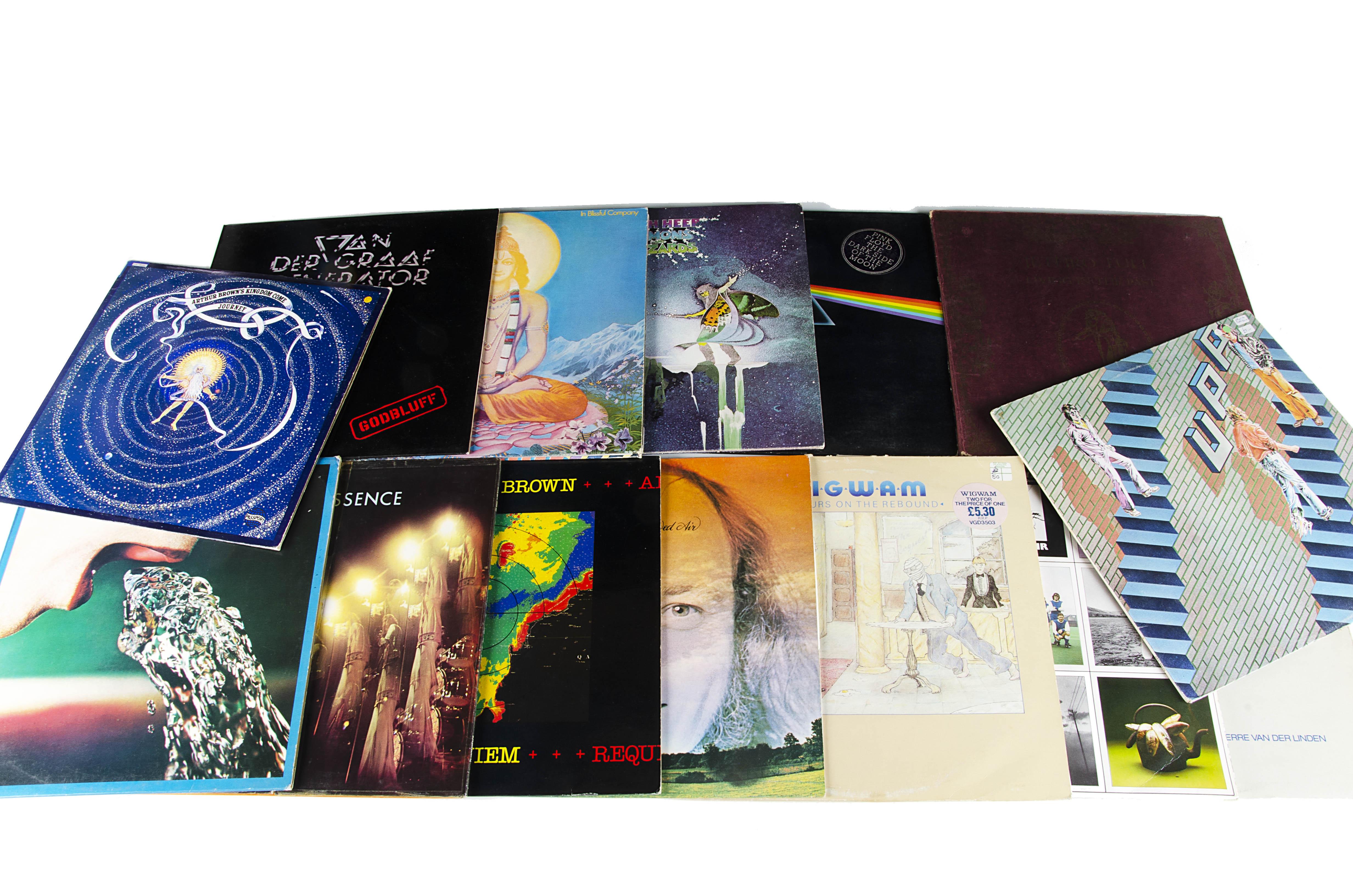 Progressive Rock LPs, fourteen albums of mainly Prog Rock with artists comprising Pink Floyd, Van