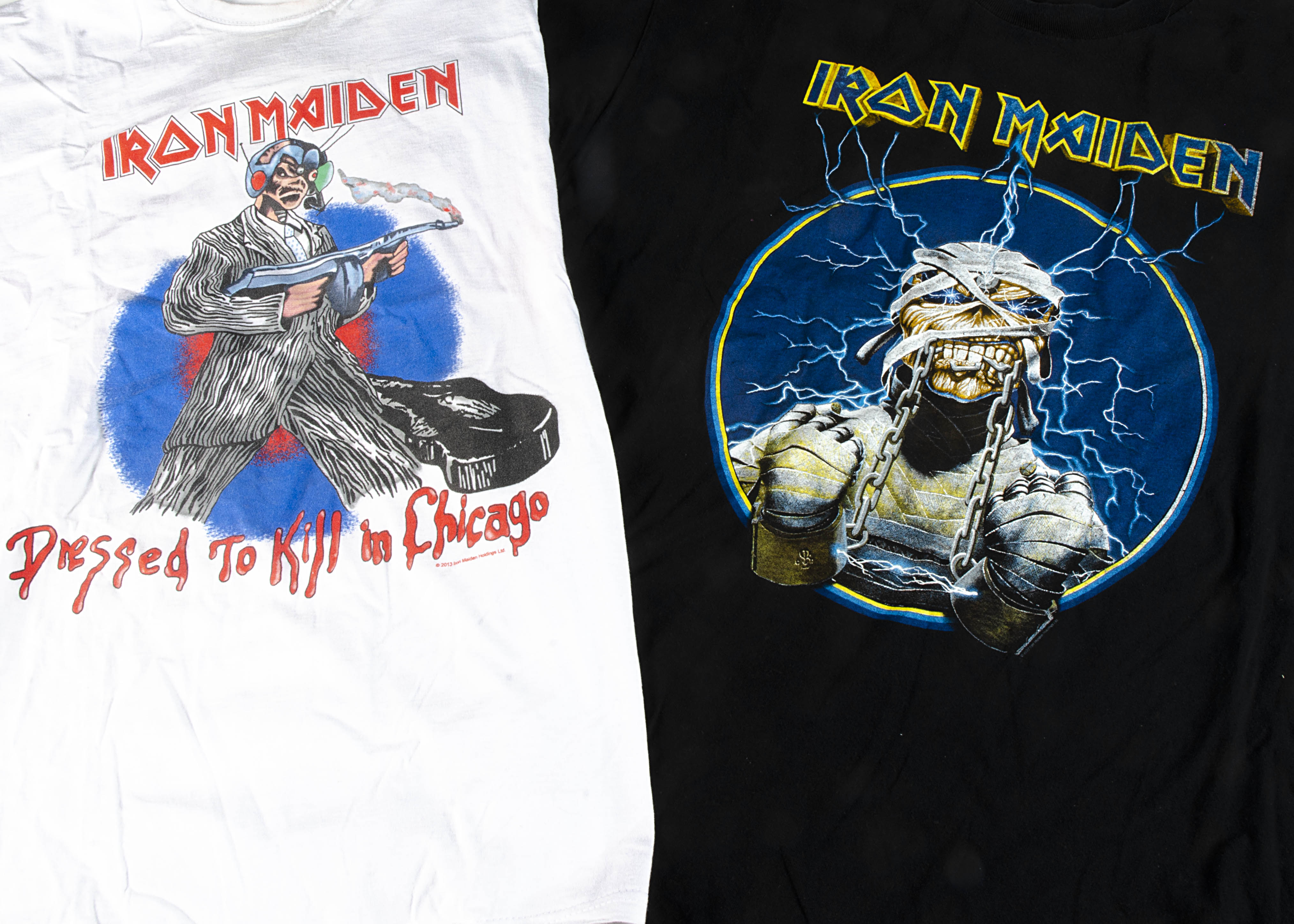 Iron Maiden 'T' Shirts, five Iron Maiden 'T' shirts - 2 X dressed to Kill in Chicago XL & M (used - Image 2 of 2