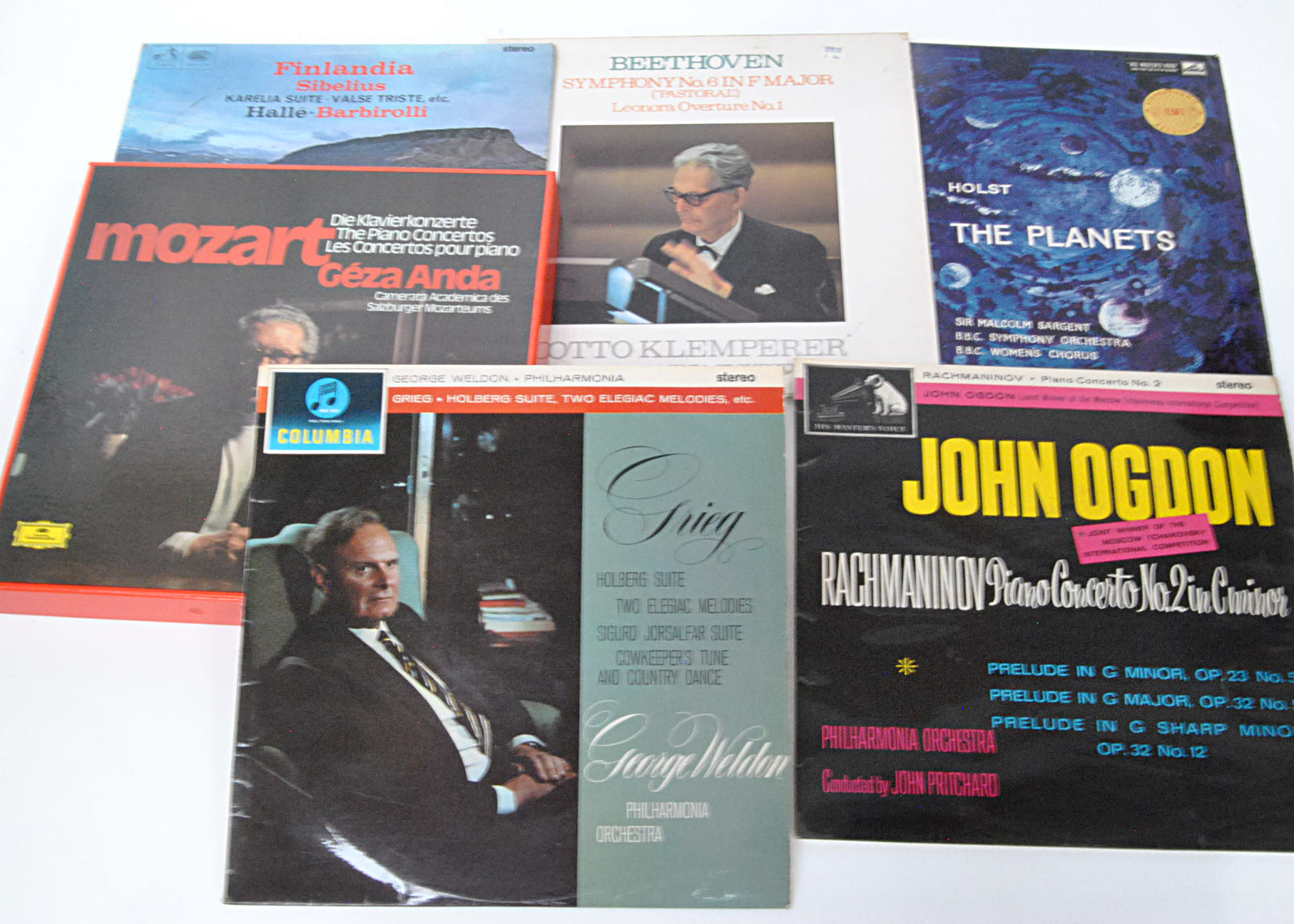 Stereo Classical LPs / Box Set, five UK Stereo Classical albums and a German Box Set comprising