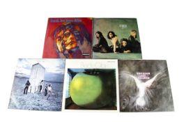 Progressive Rock LPs, five albums of mainly Progressive and Heavy Rock comprising Jeff Beck - Beck-