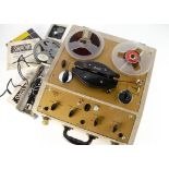 Reel to Reel, a Brenell Mk5 reel to reel together with four tapes, a crystal microphone BM-3,