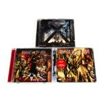 Iron Maiden / Rod Smallwood Signed CDs, three CDs signed by various comprising Rainmaker (signed