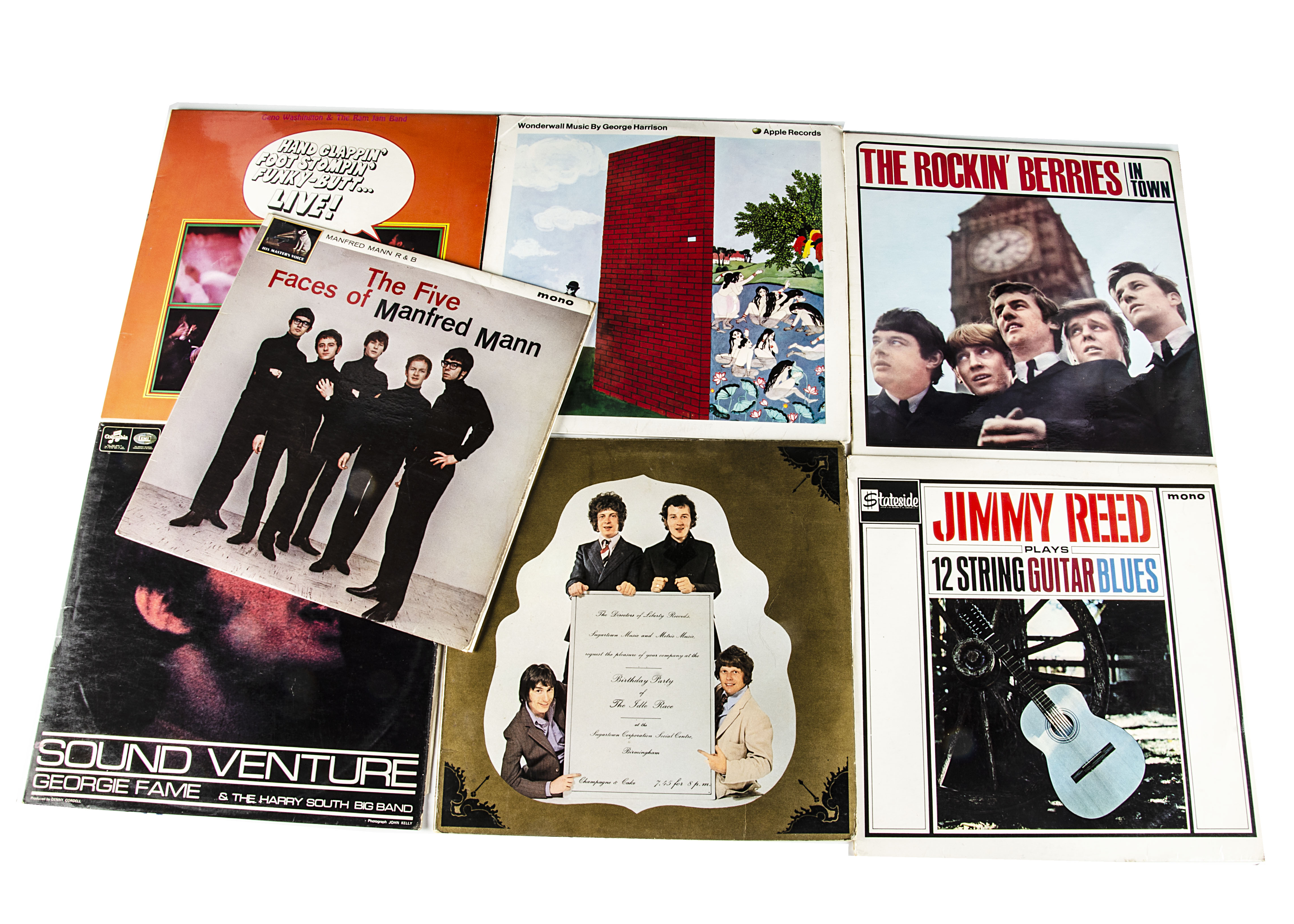 Sixties LPs, seven albums comprising George Harrison - Wonderwall Music (German Stereo with