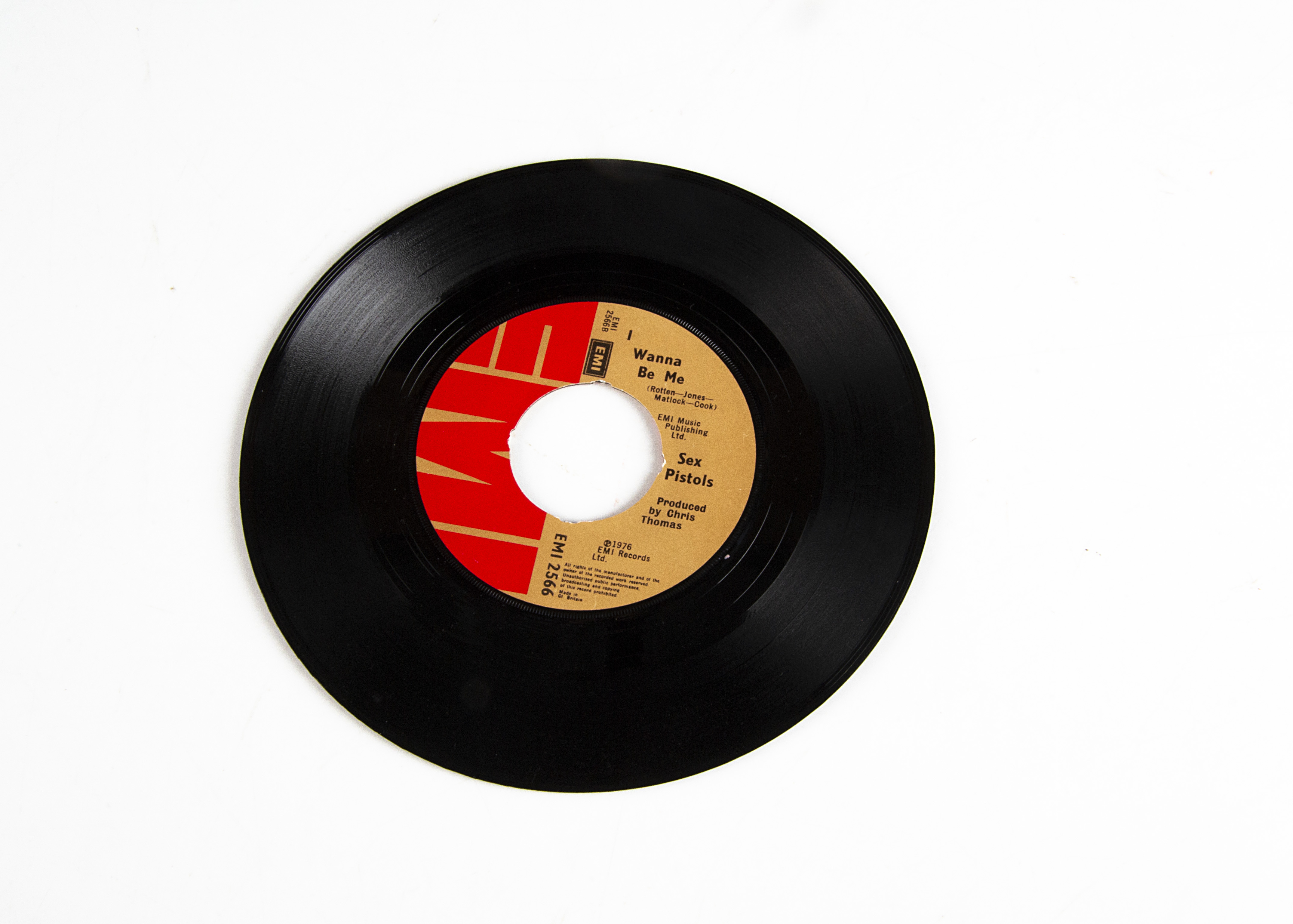 """Sex Pistols 7"""" Single, Anarchy In The UK b/w I Wanna Be Me 7"""" Single - Original UK release 1976 on - Image 2 of 2"""
