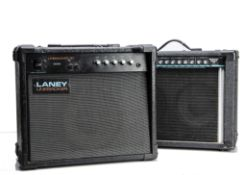 Amplifiers / Speakers, a Laney Linebacker 30 bass combo plus a Peavey Backstage Chorus 208, used