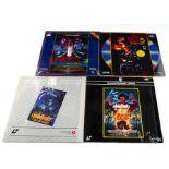 A Nightmare on Elm Street Laser Discs, four discs comprising Nightmare on Elm Street together with