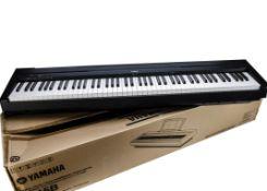 Yamaha Keyboard, a Yamaha Keyboard model P-45B in original box, with instruction booklet, no adapter