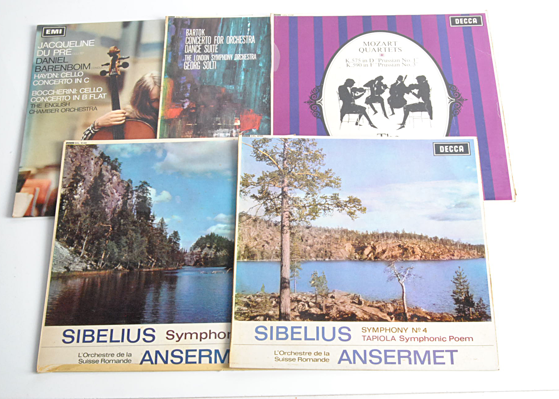 Stereo Classical LPs, five UK Stereo Classical albums comprising ASD 2331 (S/C labels) and SXL 6100,