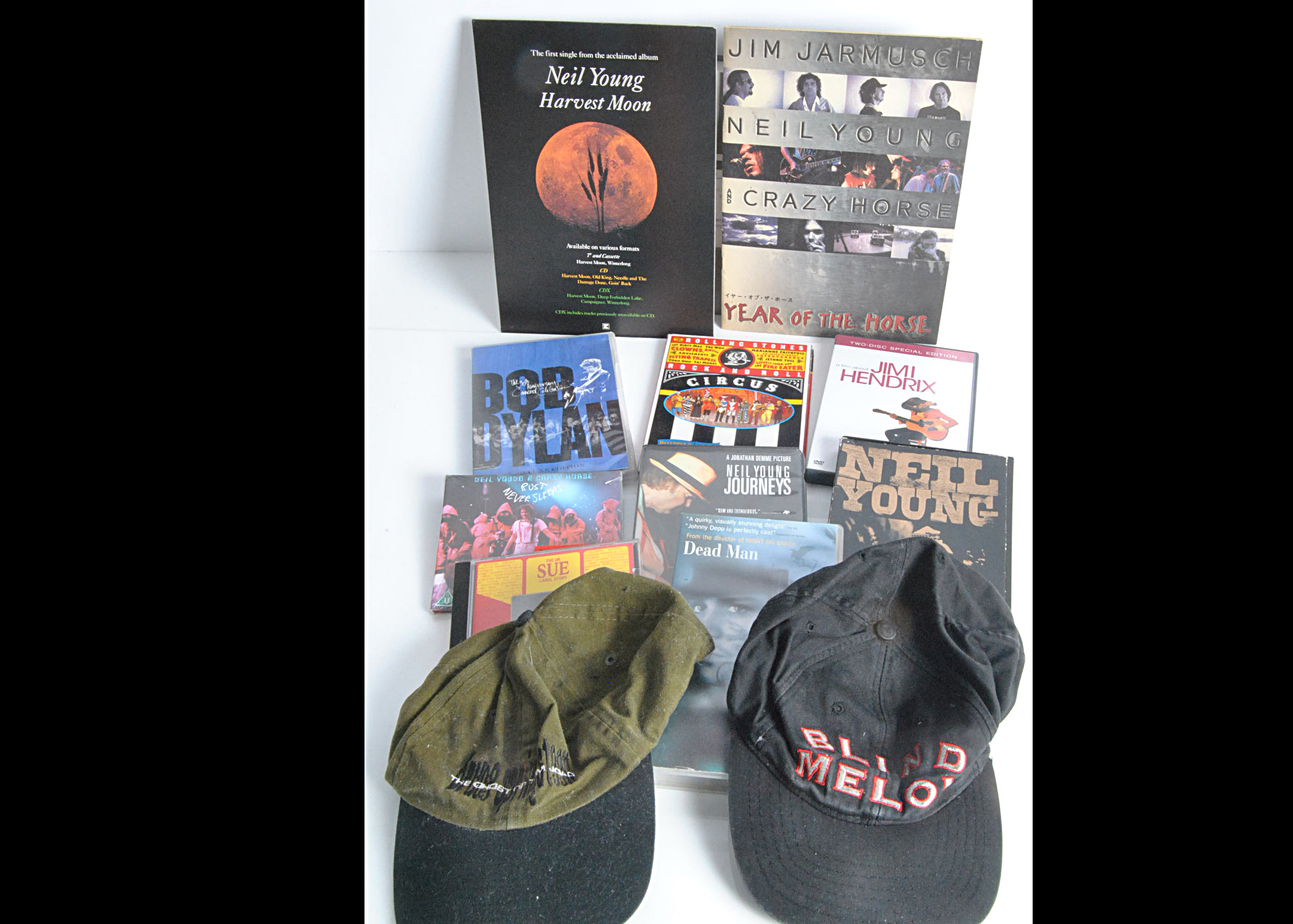 Neil Young Memorabilia plus, large collection of Neil Young memorabilia including Tim Pope and WEA