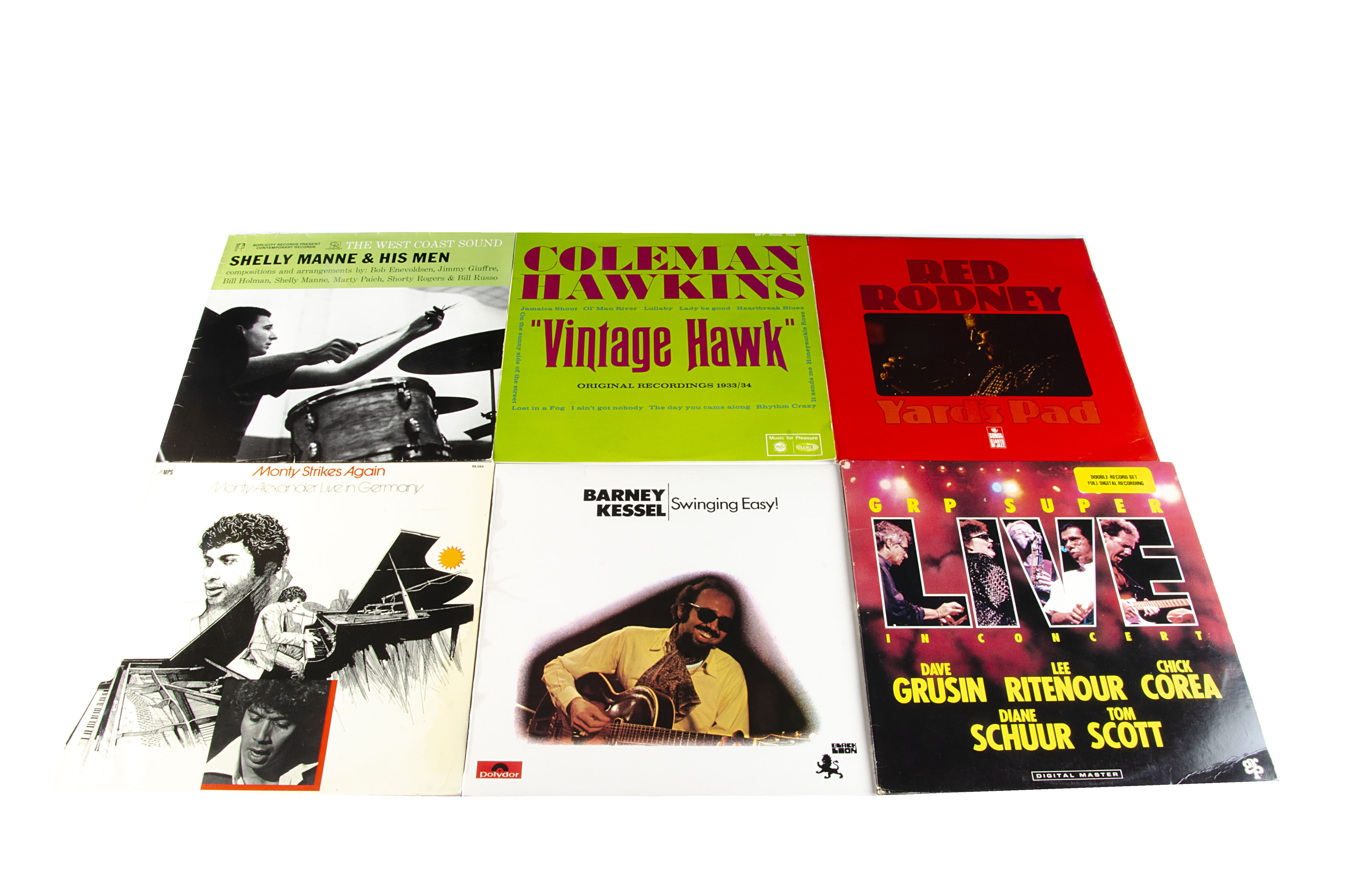Jazz LPs, approximately three hundred LPs of mainly Jazz and Big Band with artists including Coleman