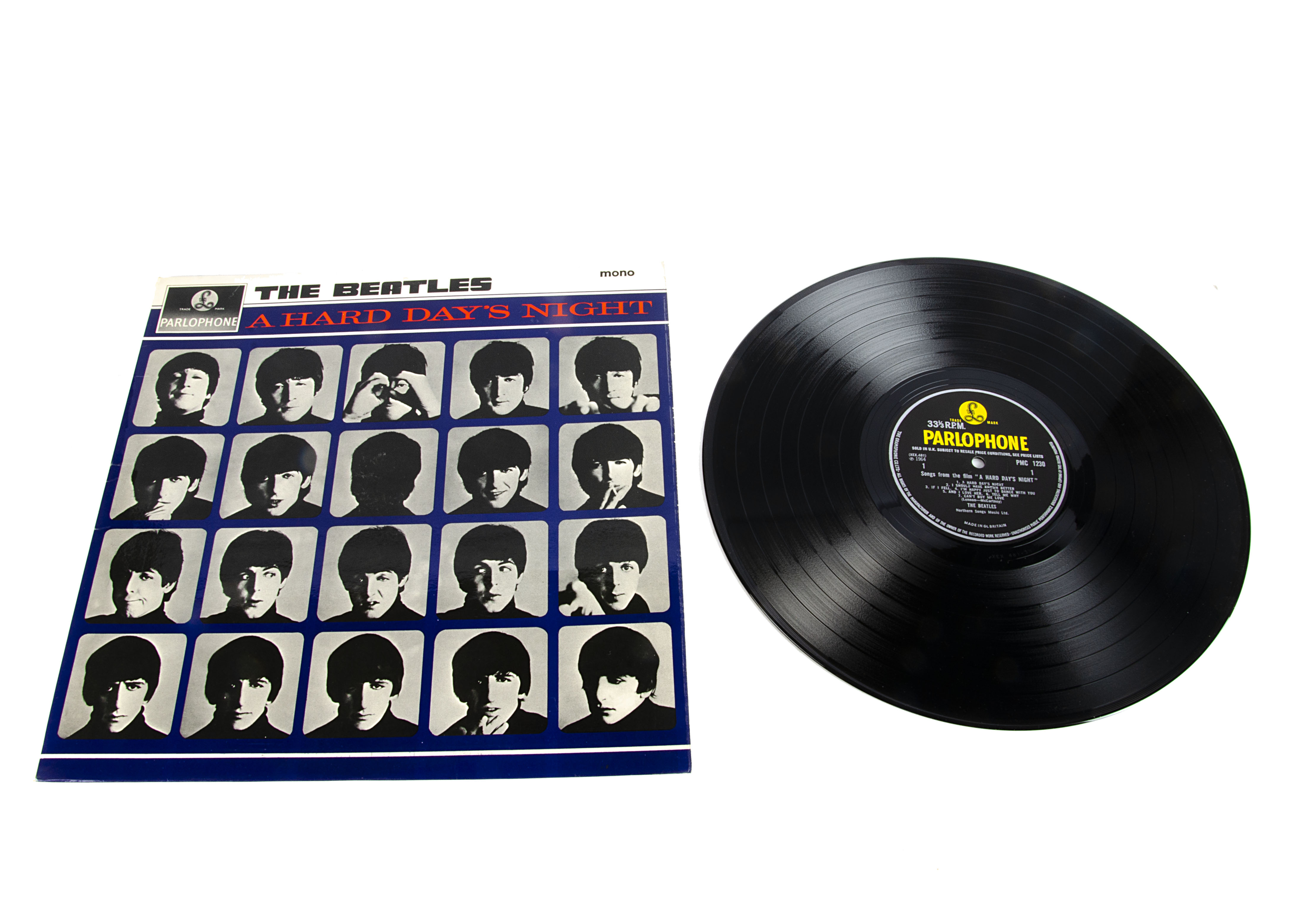 The Beatles LP, A Hard Day's Night LP - Original UK Mono release 1964 on Parlophone (PMC 1230) -