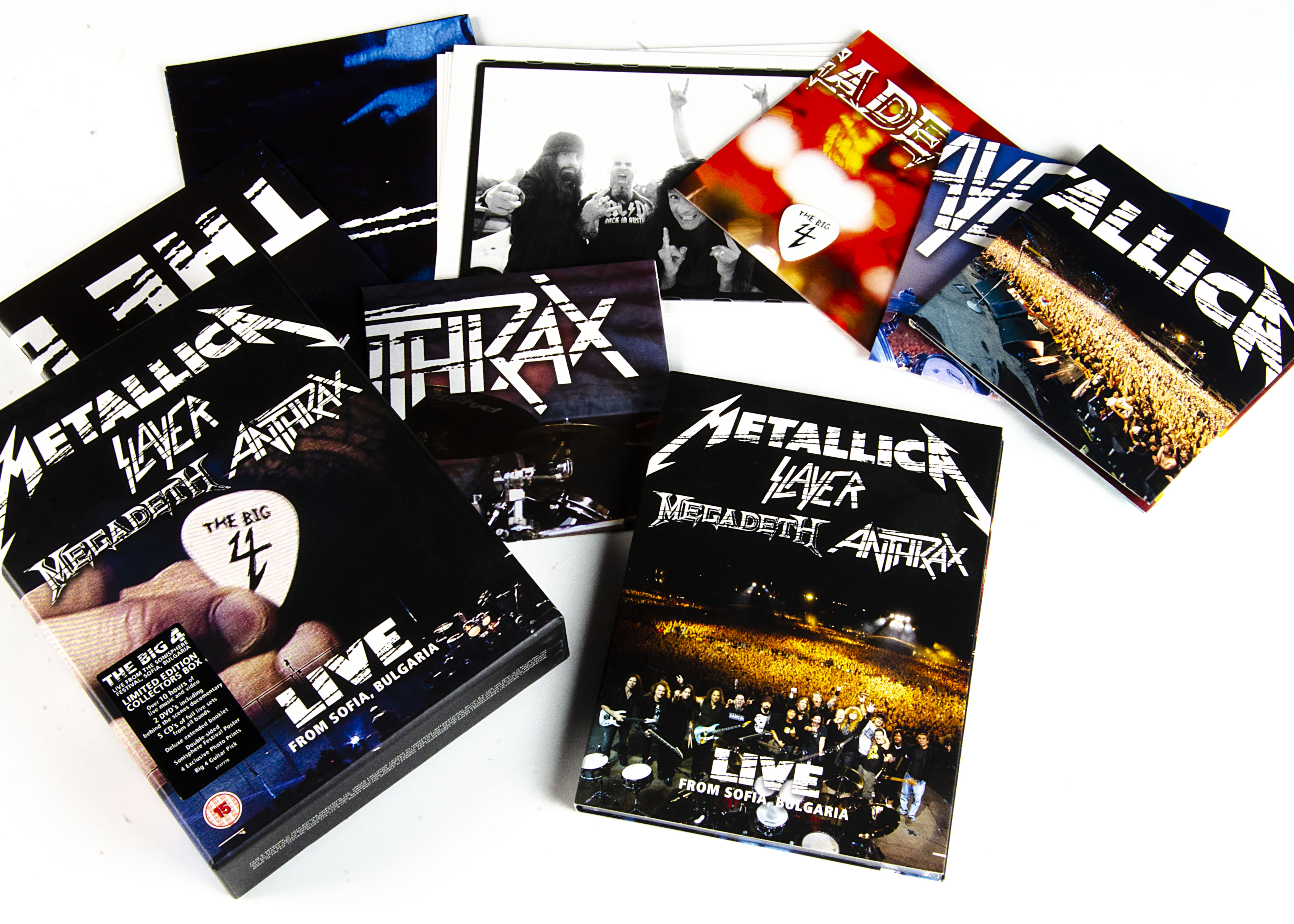 The Big 4 CD / DVD Box Set, five CD and two DVD Box Set with Live performances by Metallica,