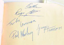 Beatles Autographs Plus, an autograph book with signatures obtained by the vendor, Sheila Shorten,