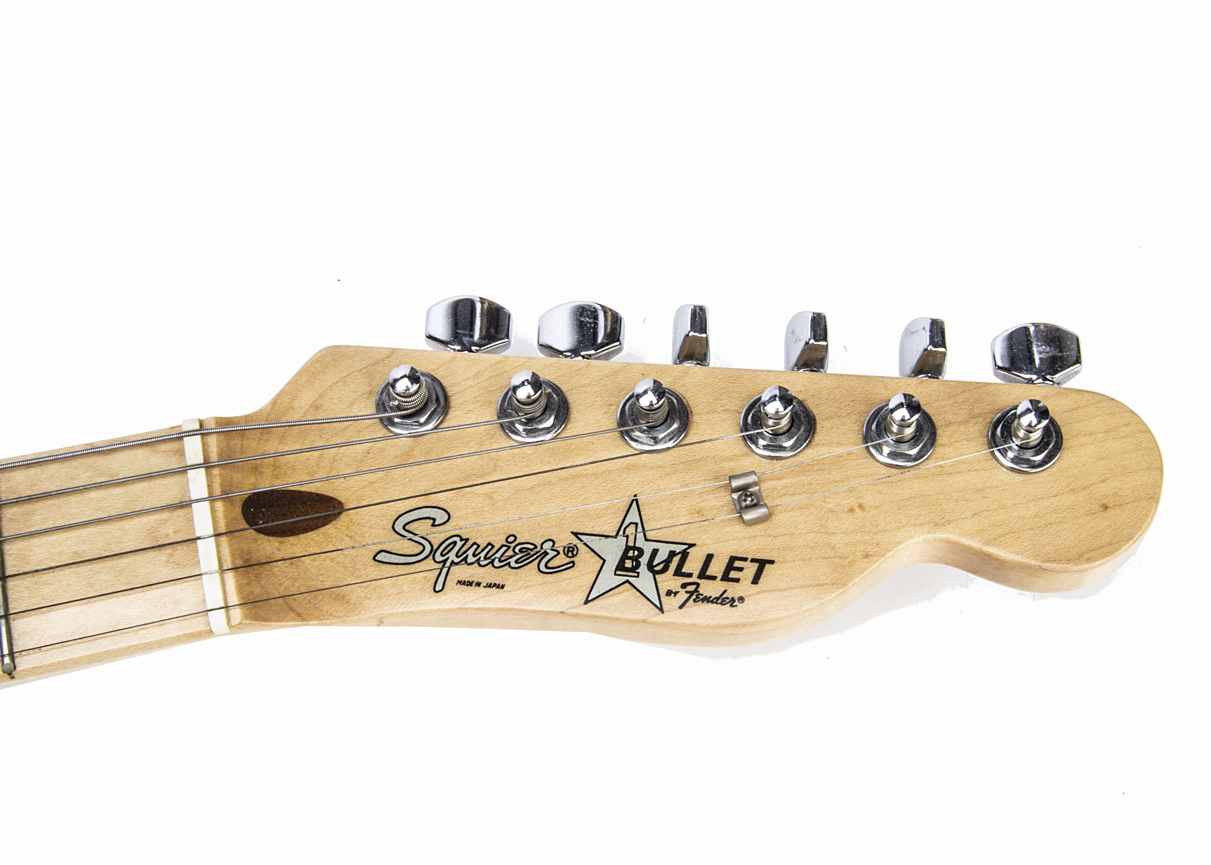 Squier Electric Guitar, a Squier 'Bullet' electric guitar by Fender, made in Japan, with strap, lead - Image 5 of 5