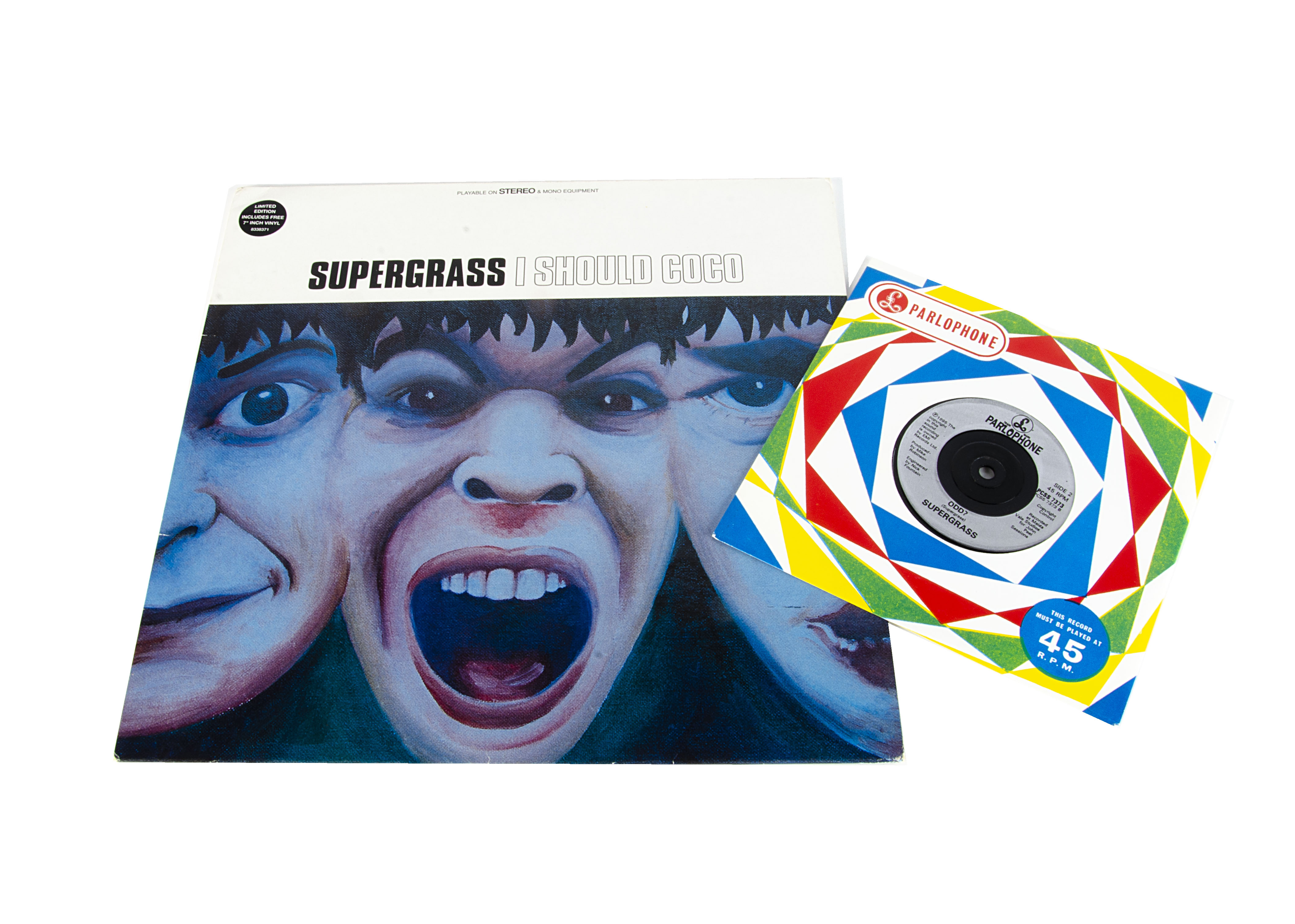 Supergrass LP, I Should Coco - Original UK Release 1995 on Parlophone (PCSX 7373) - with Sticker,