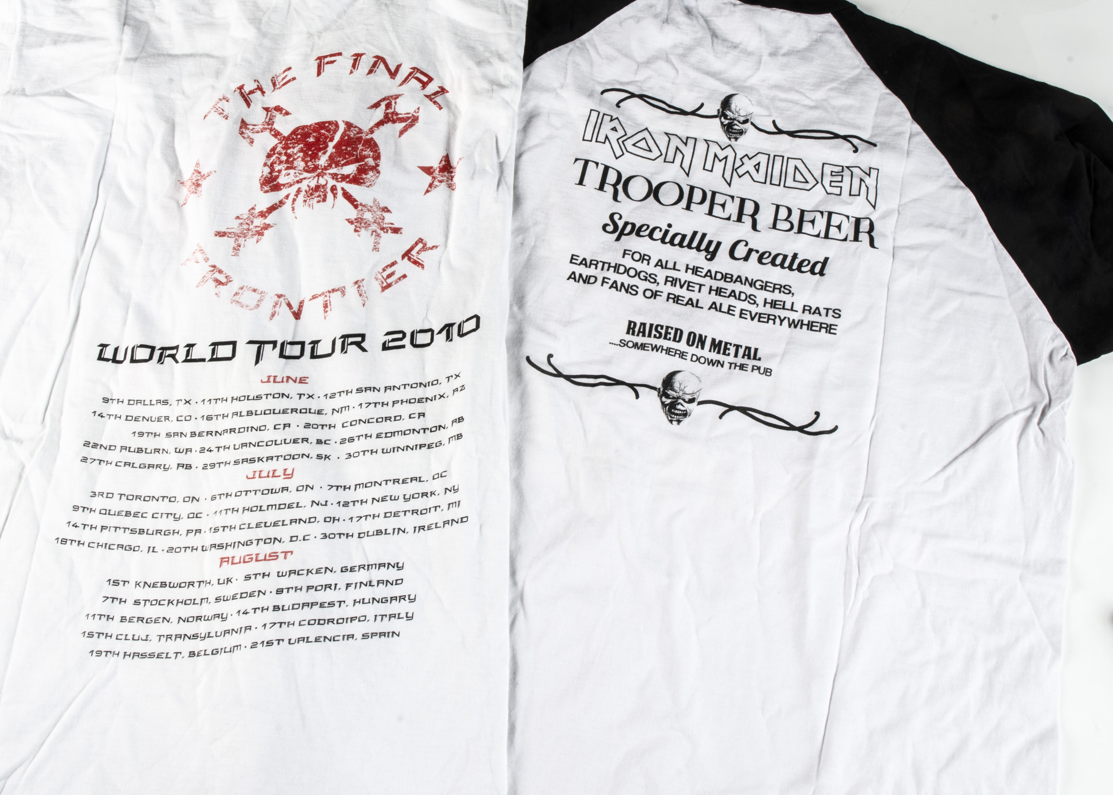 Trooper / Final Frontier 'T' Shirts, a long sleeved 'Trooper' shirt with image on front and text - Image 2 of 2