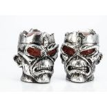 Iron Maiden / Illuminated Eddie, two Seventh Son Illuminated L.E.D. Eddie Heads - both in