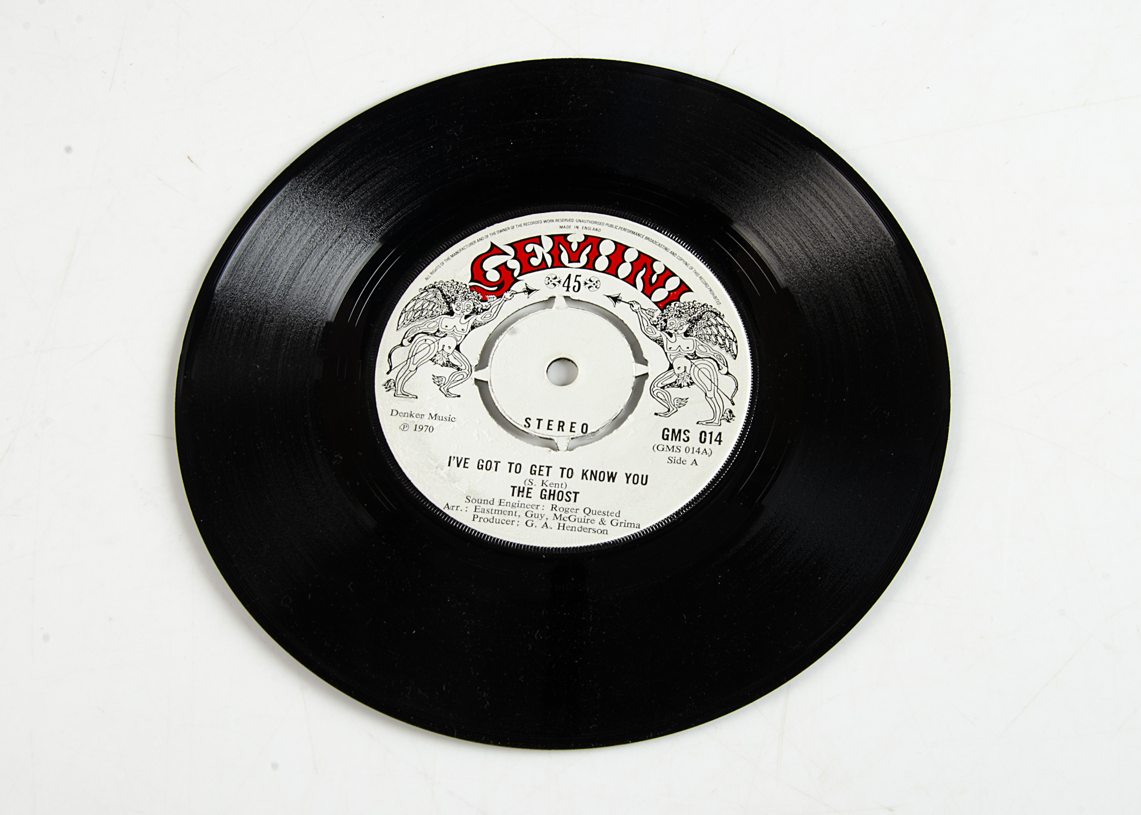 """The Ghost 7"""" Single, I've Got To Get To Know You b/w For One Second 7"""" Single - original UK"""