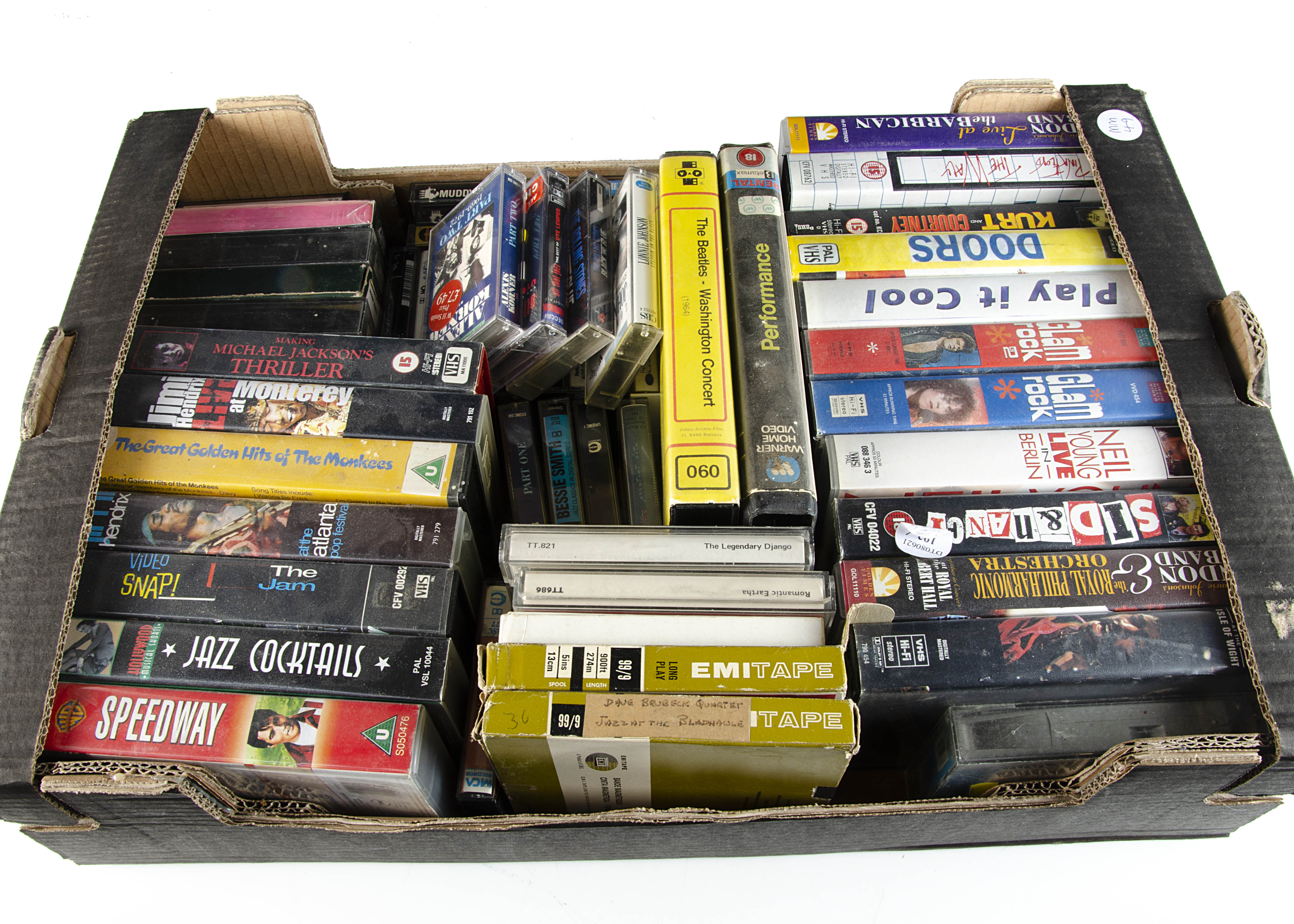 Music Videos / Tapes, a large collection of Music Videos (21), Cassettes (28), Reel to Reels (6 ) - Image 2 of 2