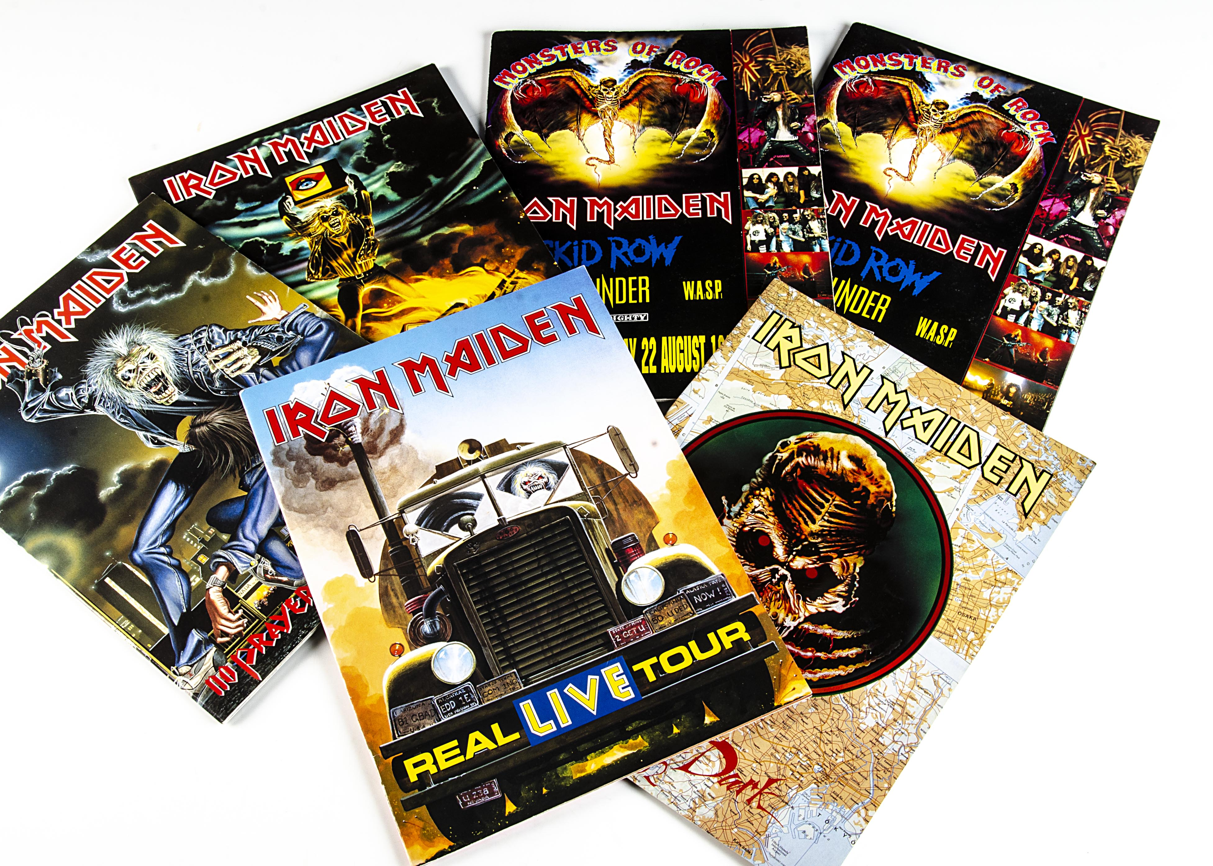 Iron Maiden Programmes, six tour programmes from the early 1990s comprising Intercity Express