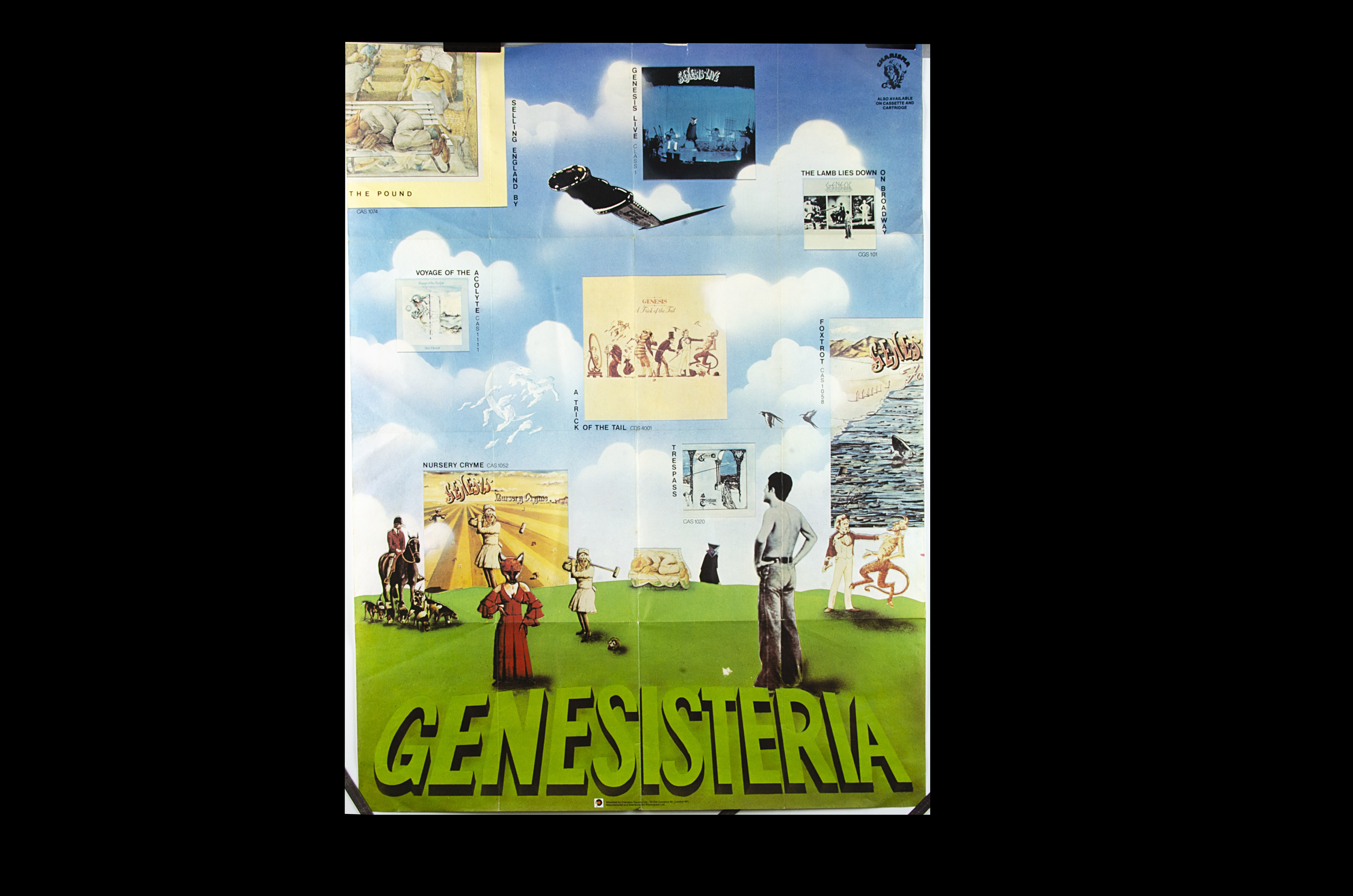 Genesis Poster, Genesisteria - Original Charisma Promotional Poster from 1975 featuring all albums
