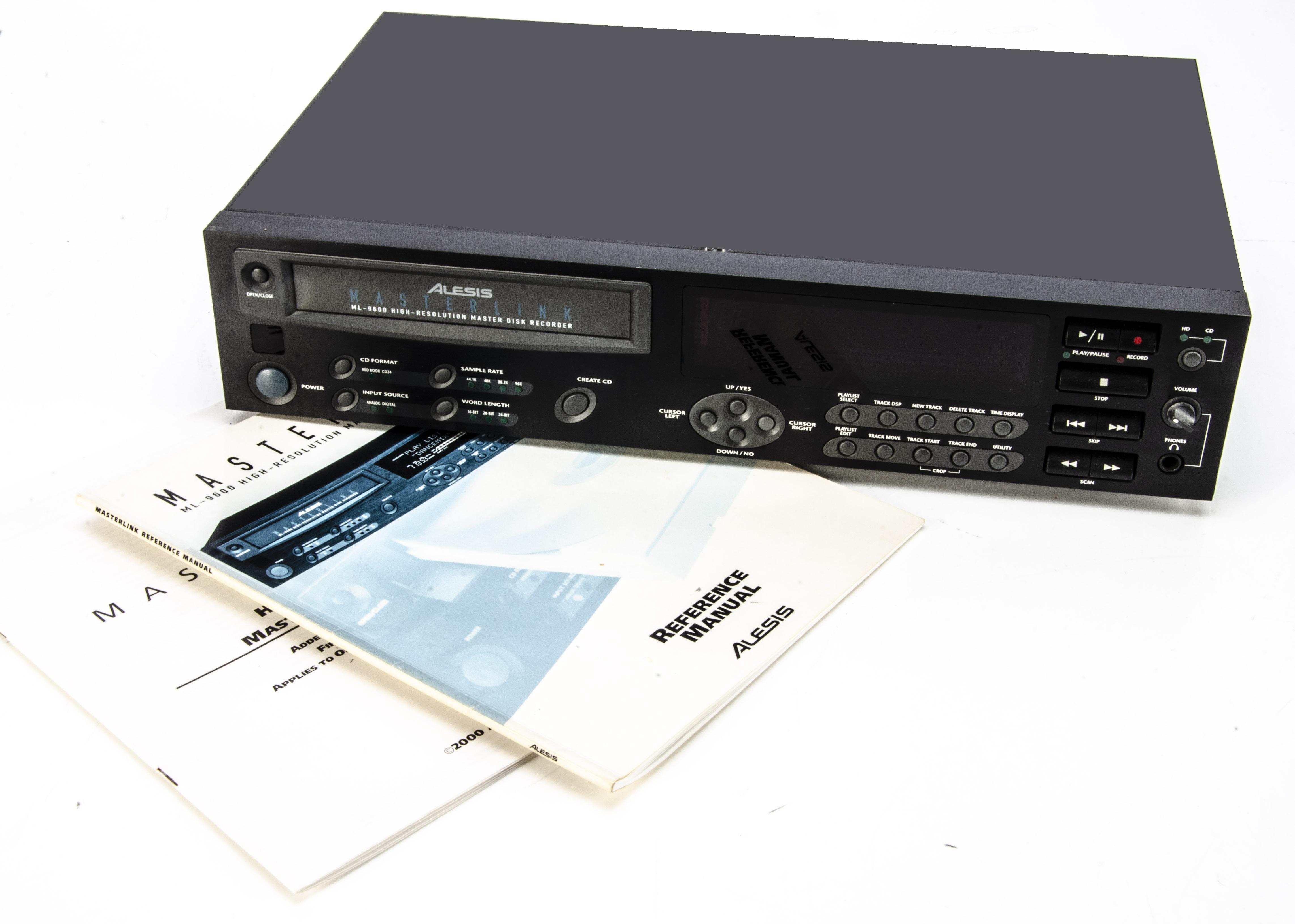 Alesis Disk Recorder, an Alesis ML-9600 high resolution digital CD Master Recorder, remote, boxed,