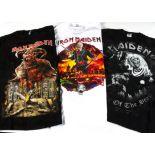 Iron Maiden Tour 'T' Shirts, six Iron Maiden 'T' shirts - 2 x Somewhere Back in Time World tour ),