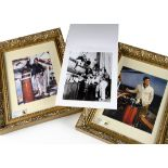 Errol Flynn Photographs on Zaca, two framed and glazed photographs of Errol Flynn on his yacht '