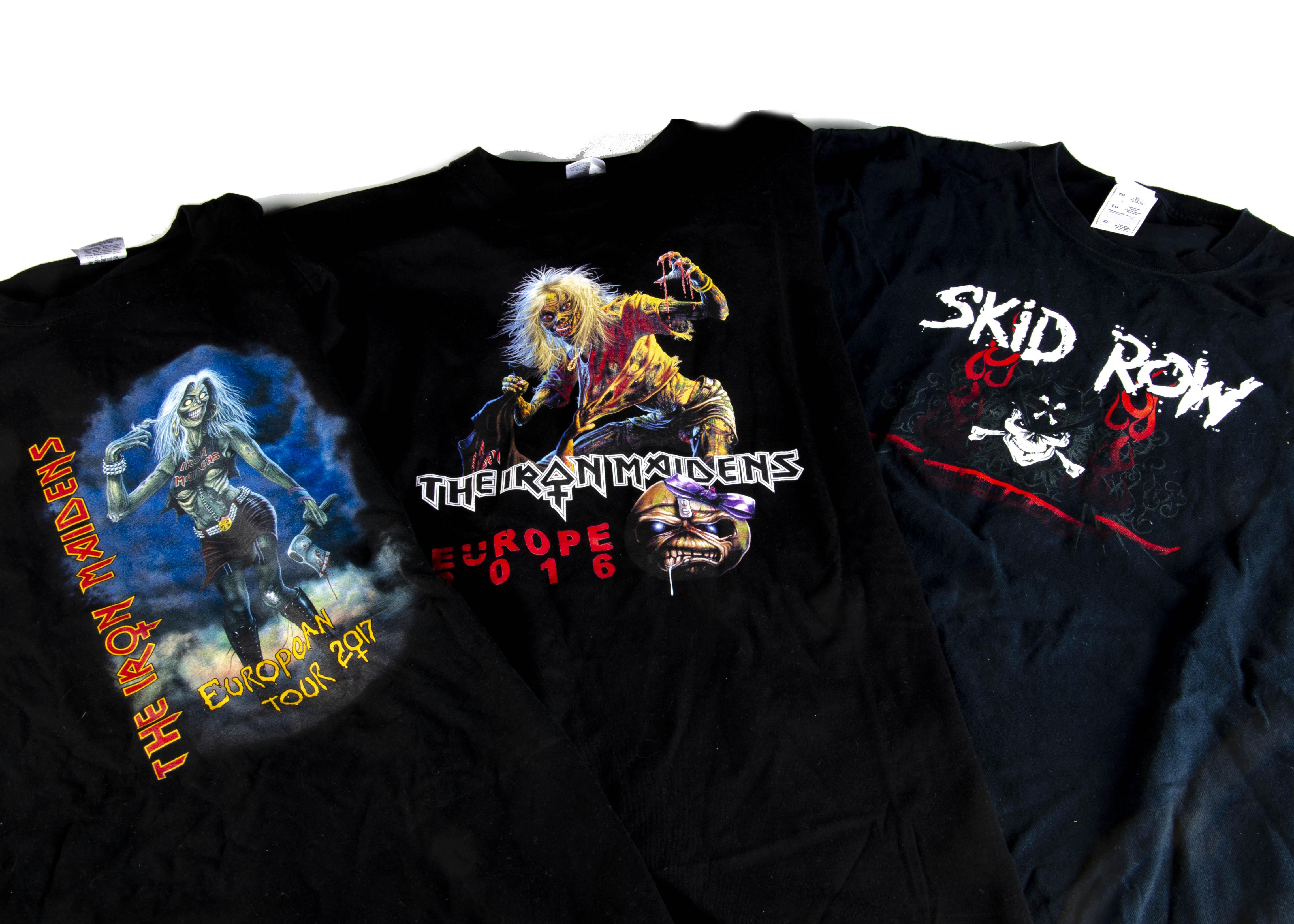 Iron Maiden Eddie 'T' Shirt, Iron Maiden 'T' shirt - Eddie's Bar 1989 blue shirt to reverse 'Eddie's - Image 4 of 5