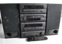 Kenwood Stereo System, a Kenwood complete system , double cassette X-63, CD player, Tuner A-83L,
