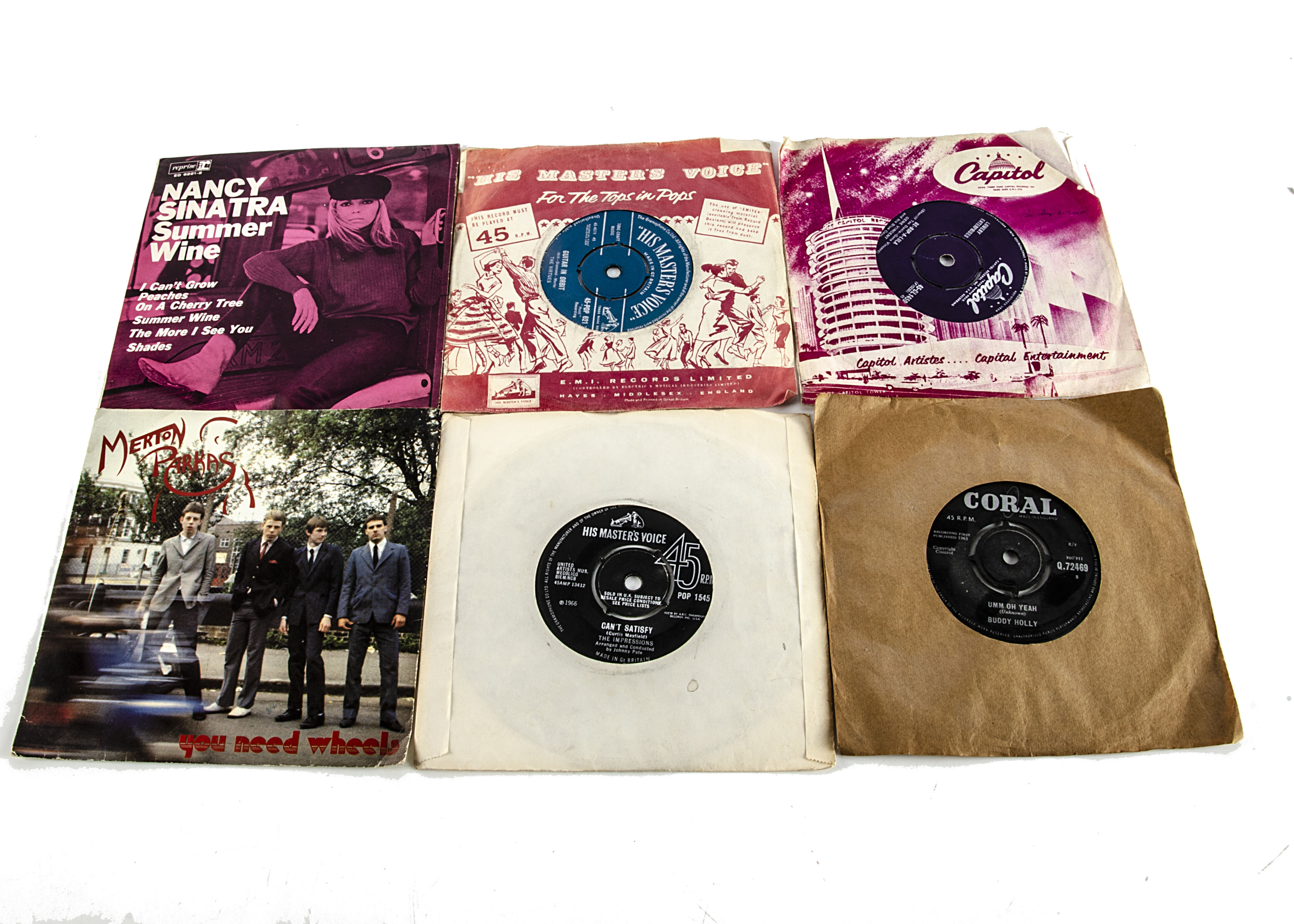 """7"""" Singles, approximately forty-five 7"""" Singles and EPs of various genres with artists including"""
