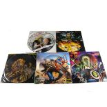 """Iron Maiden 12"""" Picture Discs, seven UK Release 12"""" Picture Disc Singles comprising The Trooper,"""
