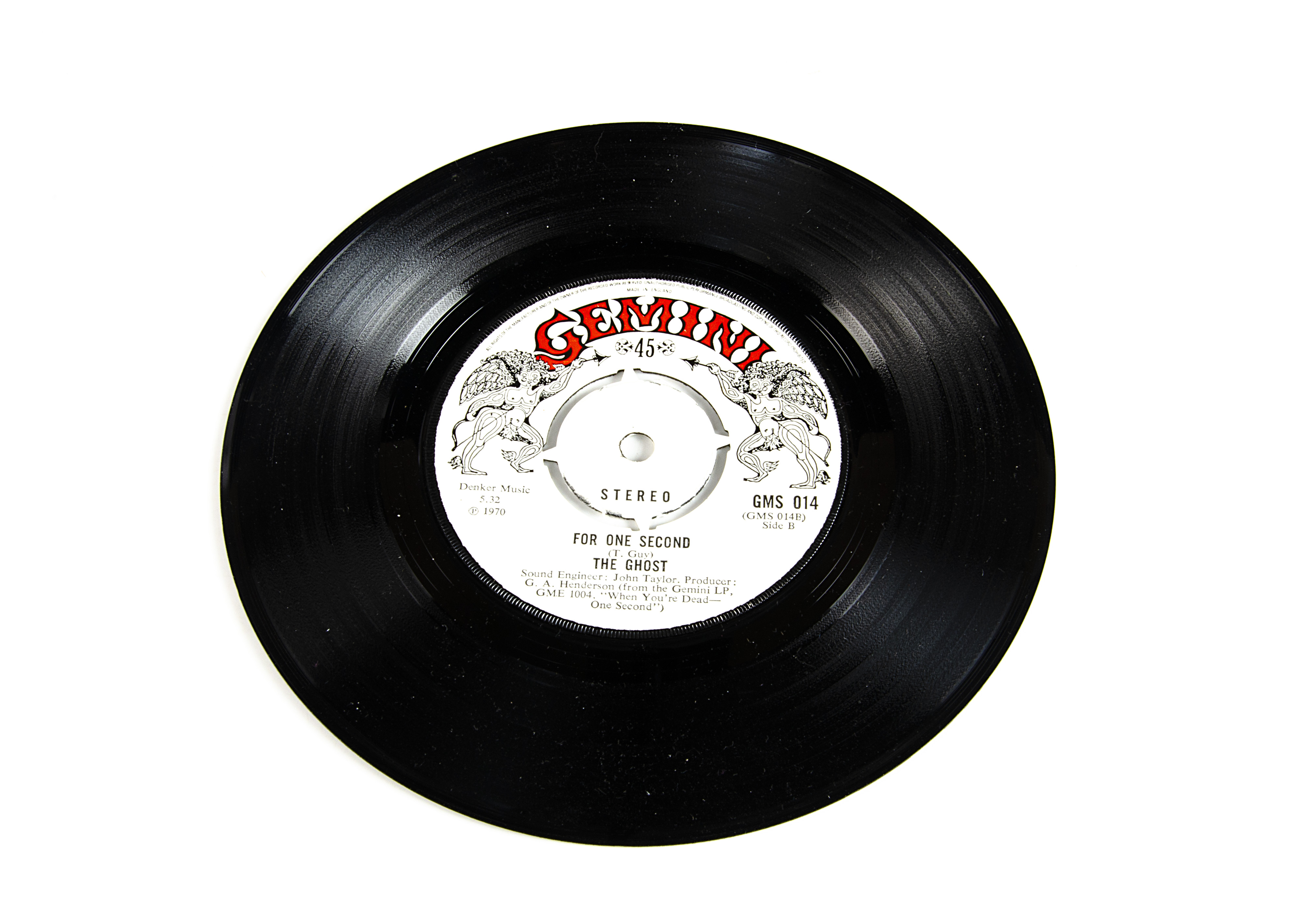 """The Ghost 7"""" Single, I've Got To Get To Know You b/w For One Second 7"""" Single - original UK - Image 2 of 2"""