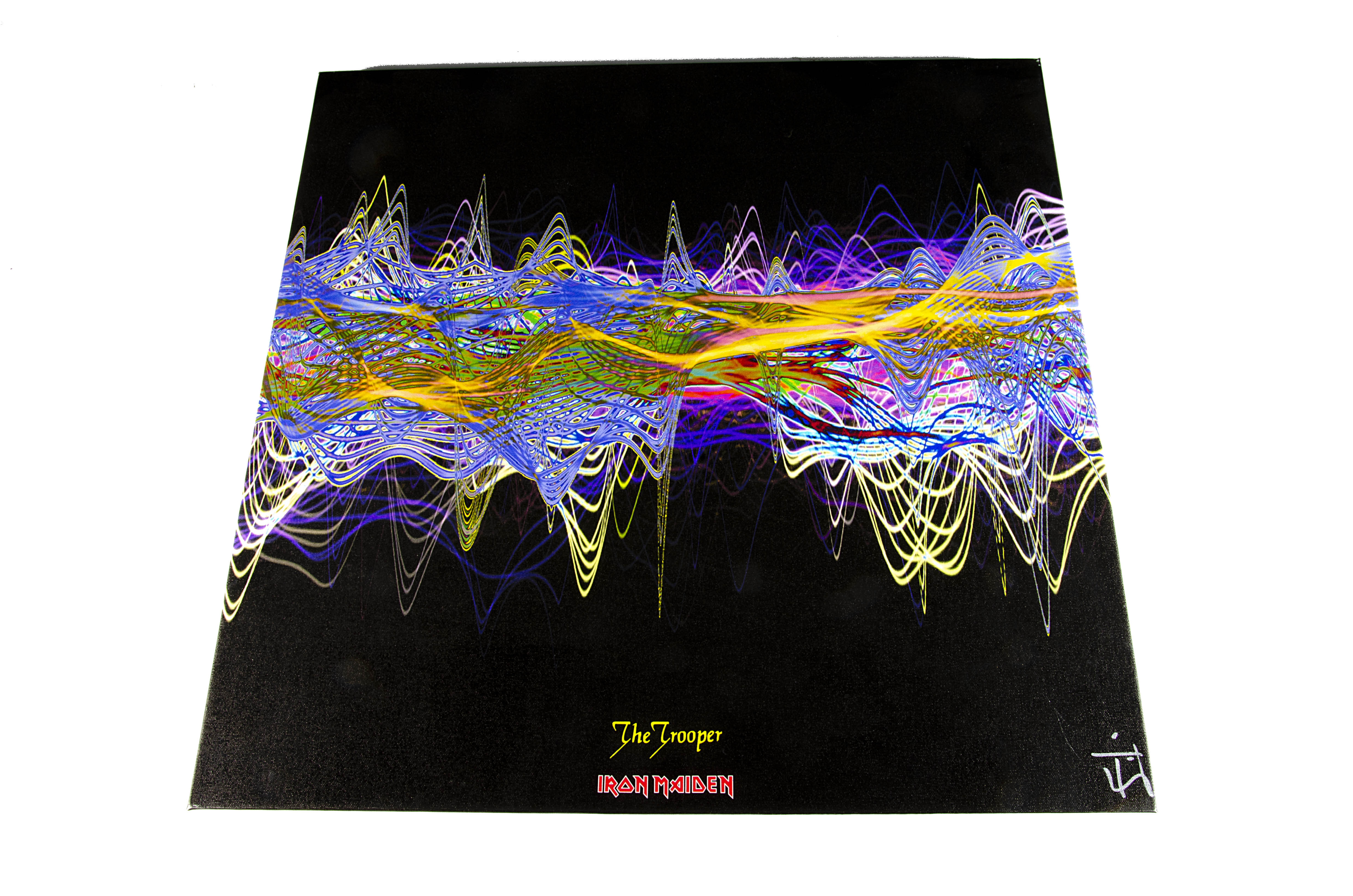 Iron Maiden Soundwaves Print, The Trooper - Original Soundwaves art created from the audio of the