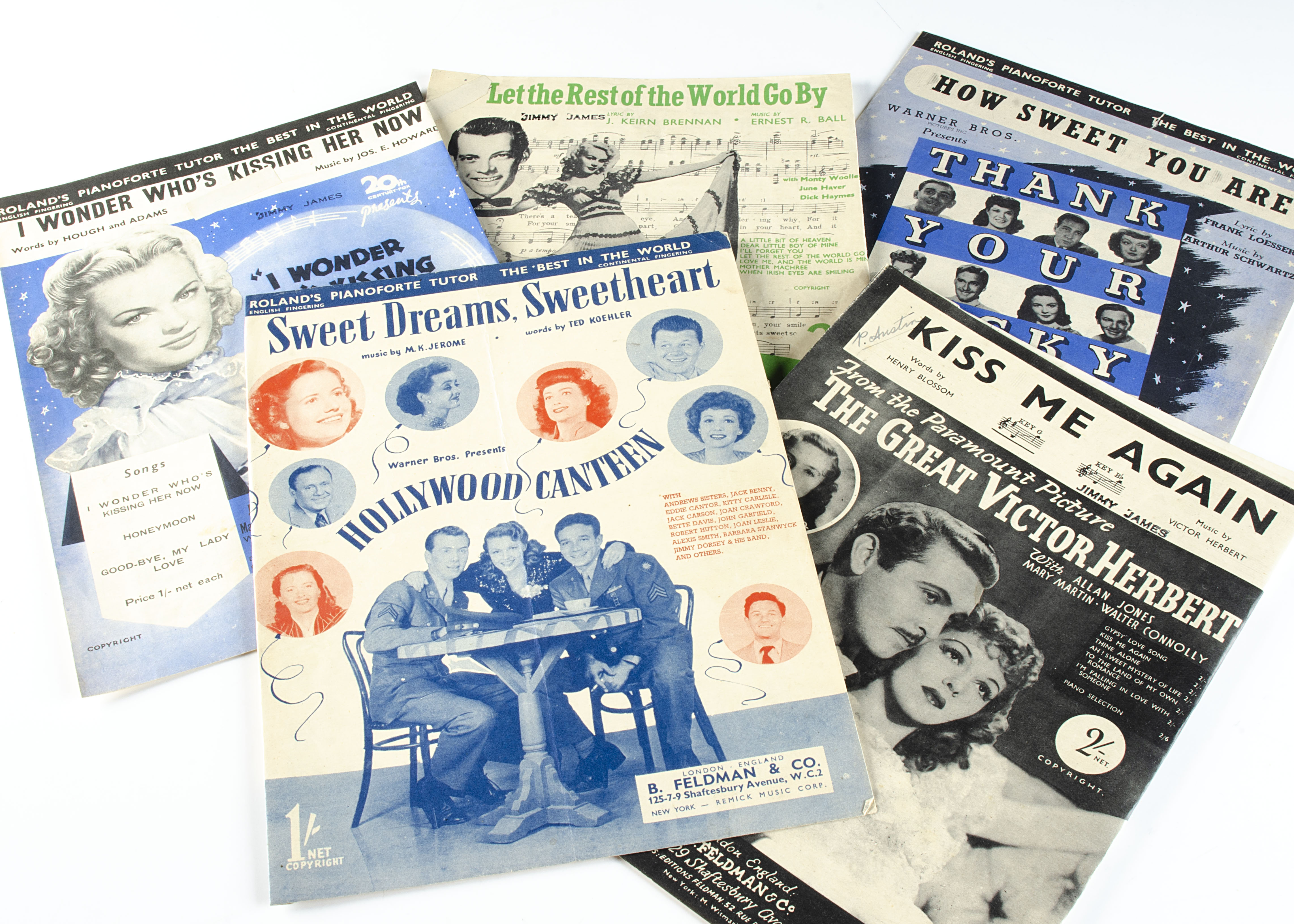 Sheet Music, approximately forty pieces of sheet music, mainly from Films of the 1940/50s with cover