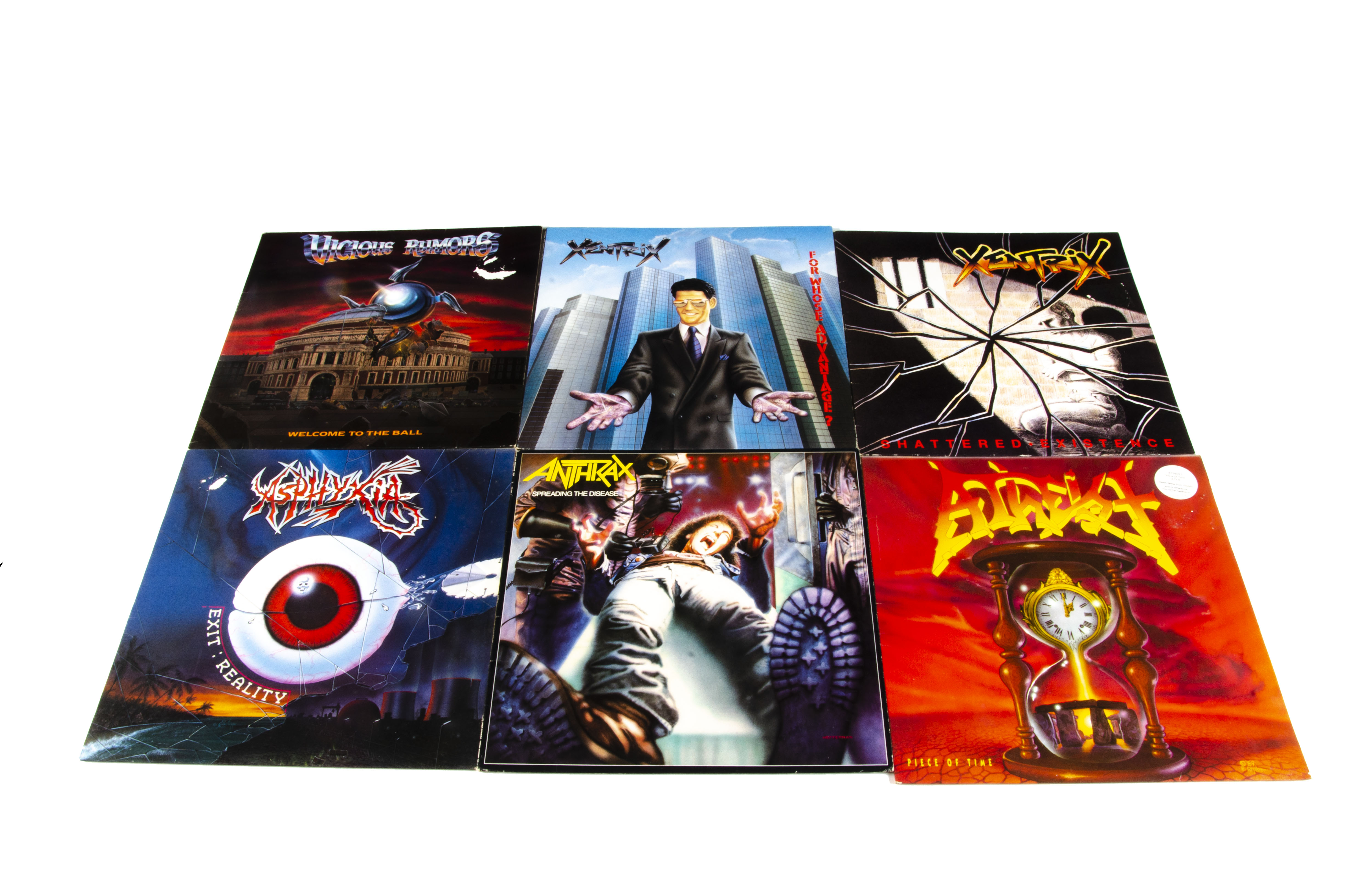 Thrash Metal LPs, six albums of mainly Thrash Metal comprising Anthrax - Spreading The Disease,