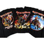 Iron Maiden England 'T' Shirts, three Iron Maiden 'T' shirts for the Maiden England Tour 2012/13