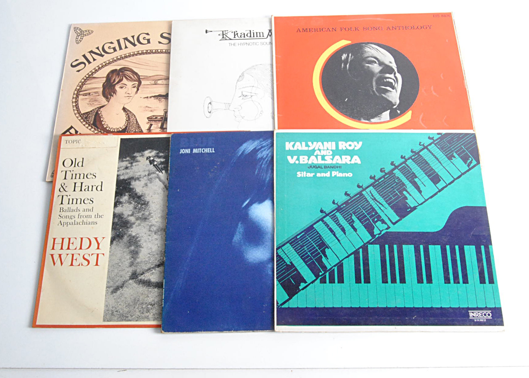 World / Folk LPs, approximately fifty albums of mainly Folk, World Music and Jazz with artists