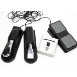 Foot Pedals, four foot pedals, Korg DT-10 (digital tuner with instructions) Acorn FP-2, Mgear EXP