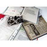 Errol Flynn Personal History Memorabilia, a quantity of folders all relating to Errol Flynn's