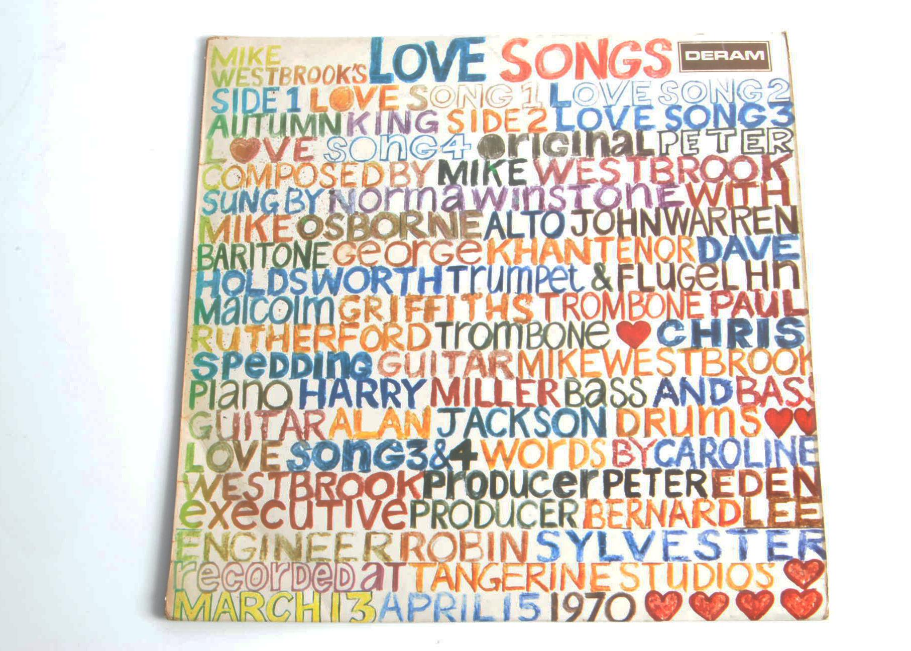 Mike Westbrook LP, Mike Westwood Concert Band - Mike Westbrook's Love Songs LP - original UK