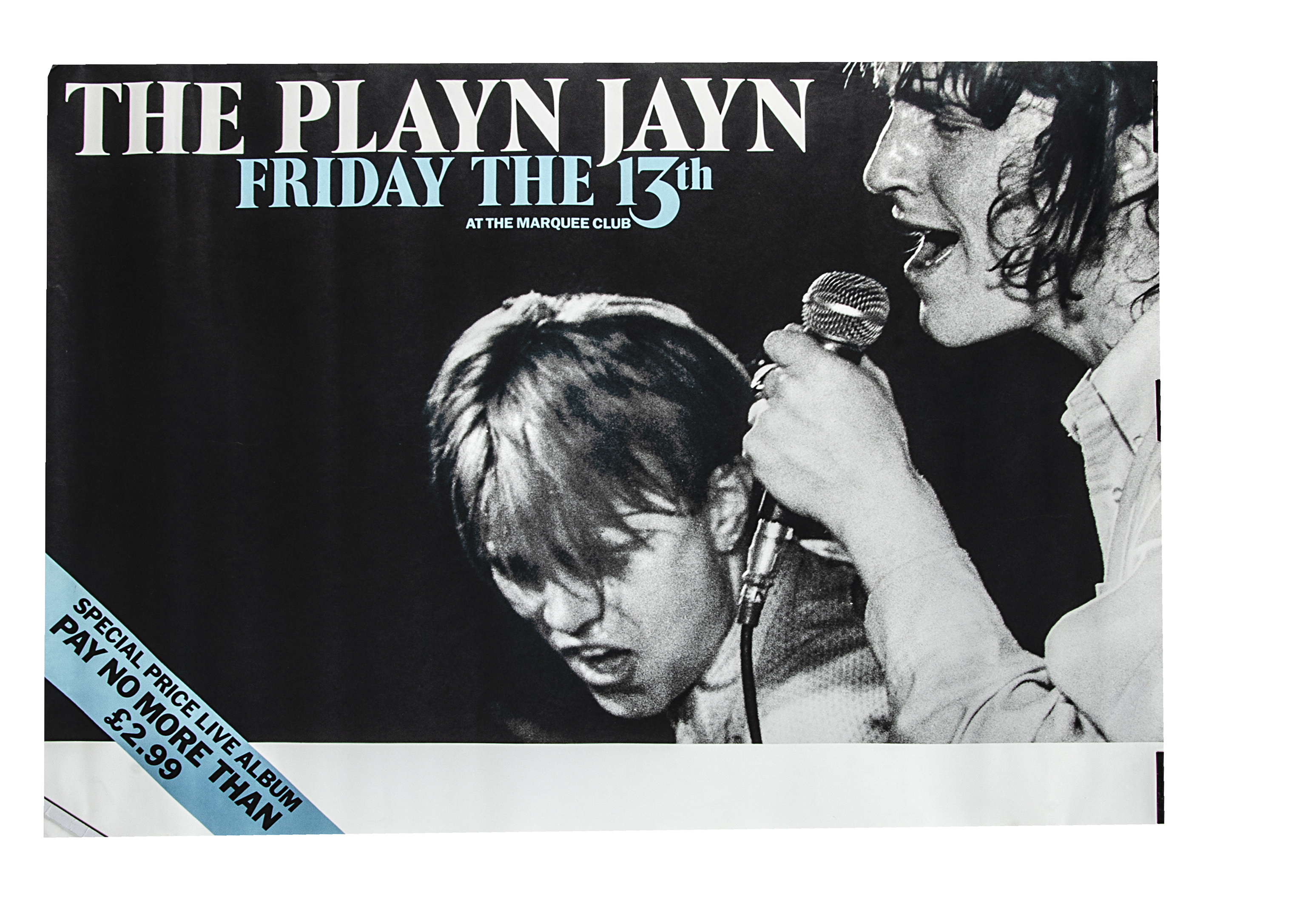 Playn Jayn Marquee Posters, twenty eight Playn Jayn promotional posters for Friday 13th at The
