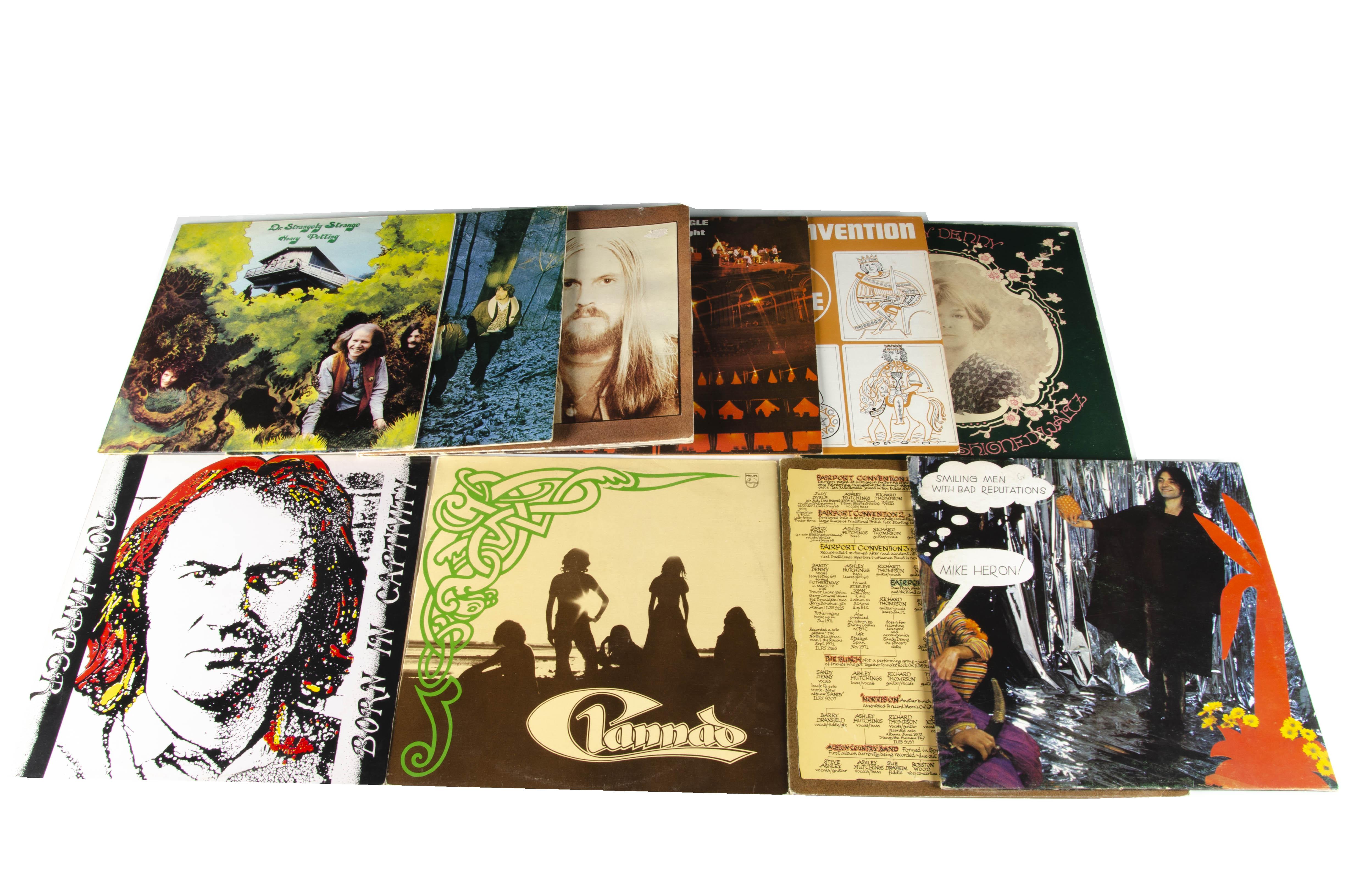 Folk / Folk Rock LPs, ten albums of mainly Folk and Folk Rock with artists comprising Sandy Denny,