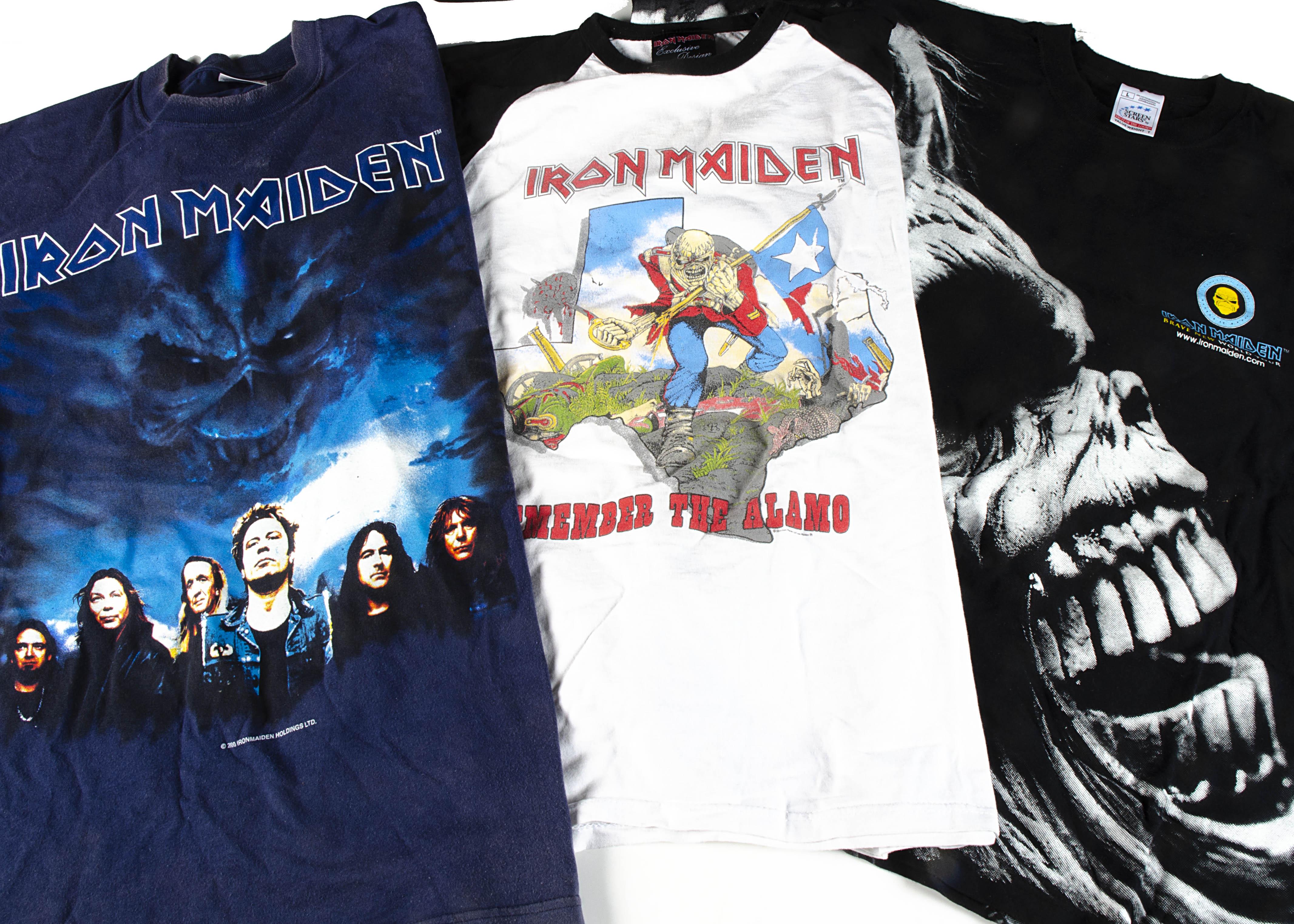 Iron Maiden 'T' Shirts, three Iron Maiden 'T' shirts - Brave New World Tour 2000/01 sized L very