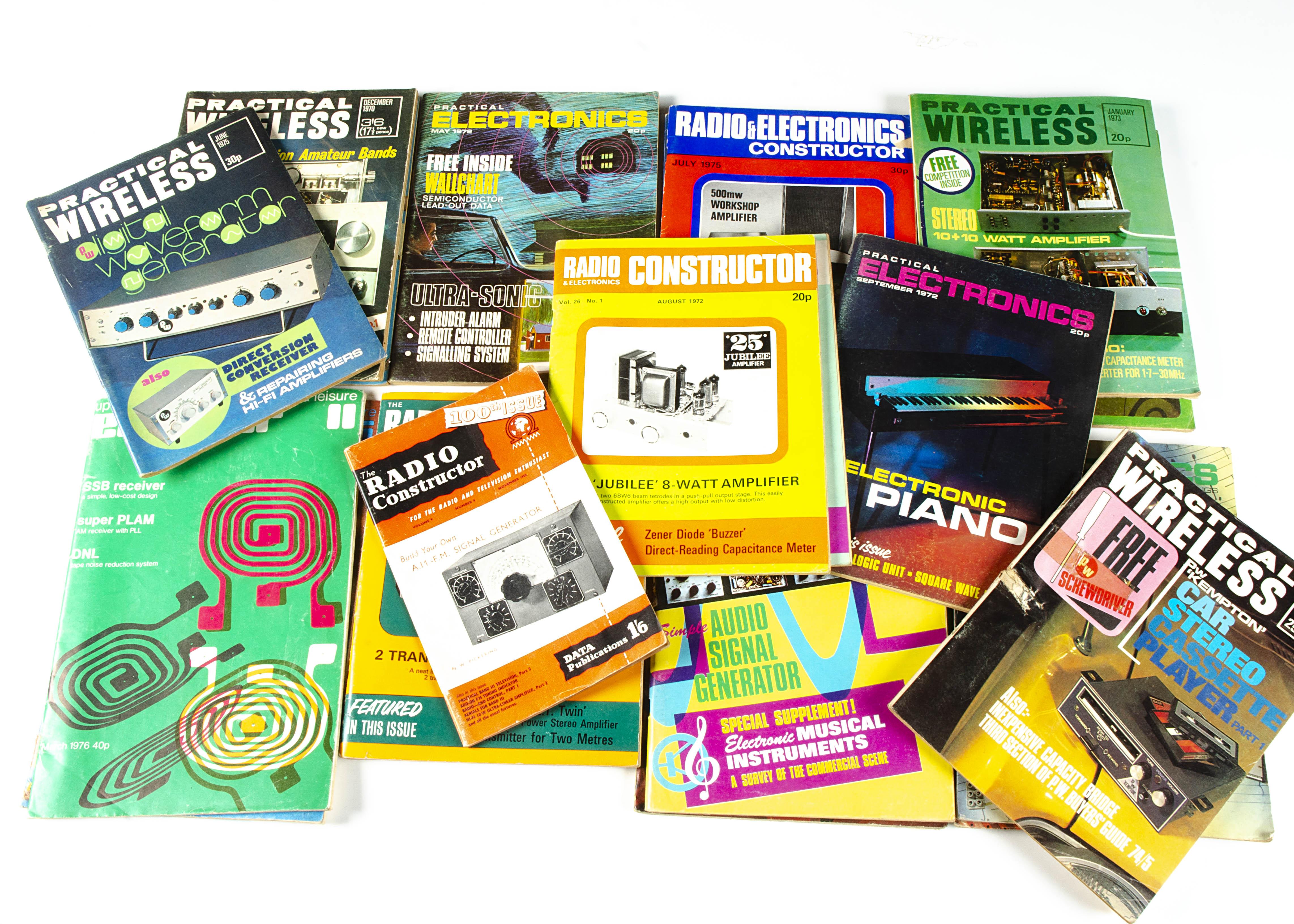 Radio Magazines, seven Practical Wireless, six Practical Electronics, four Radio Constructor, one