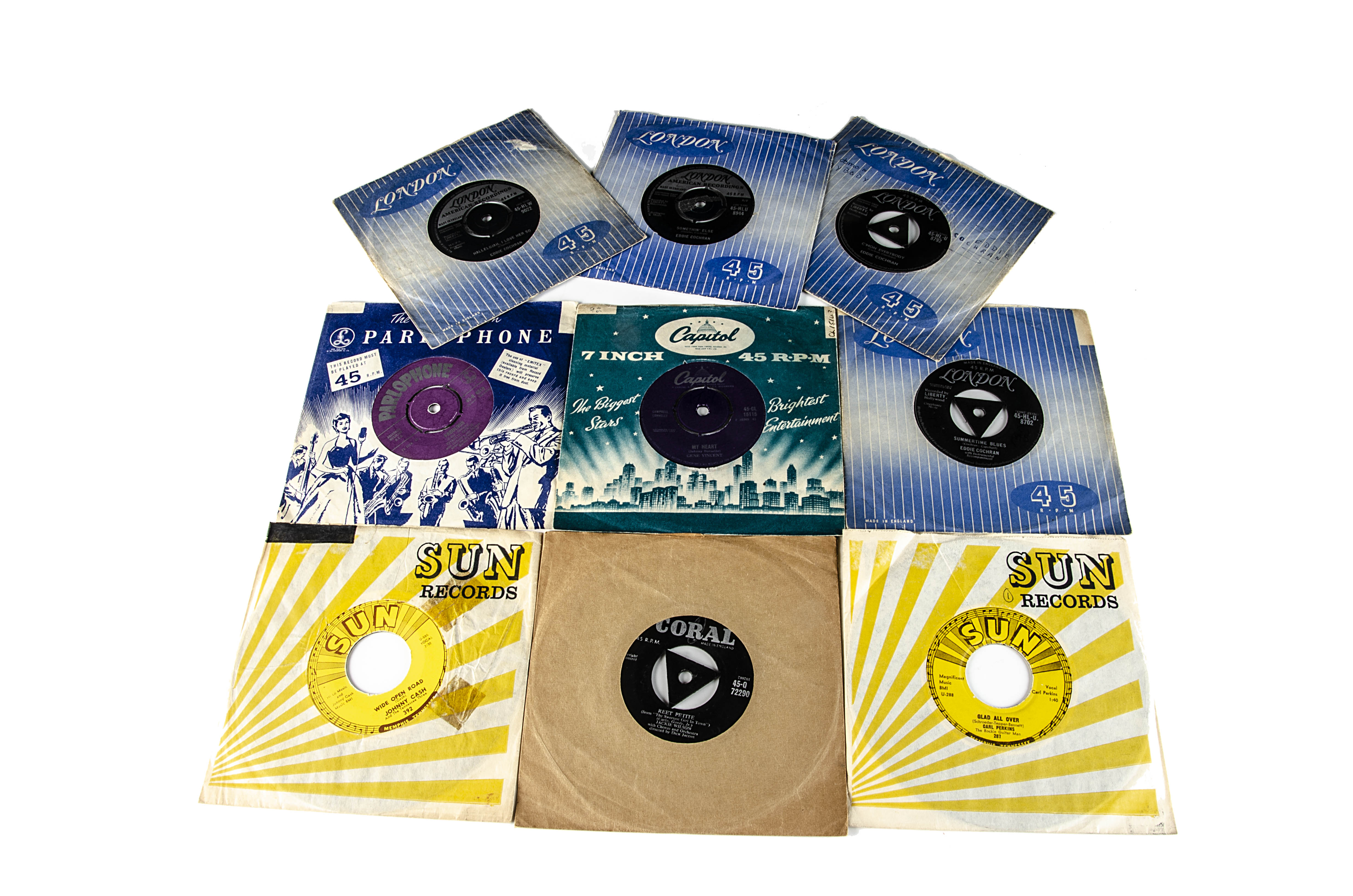 """Rock n Roll / Rockabilly 7"""" Singles, approximately one hundred singles of mainly Rock n Roll and"""