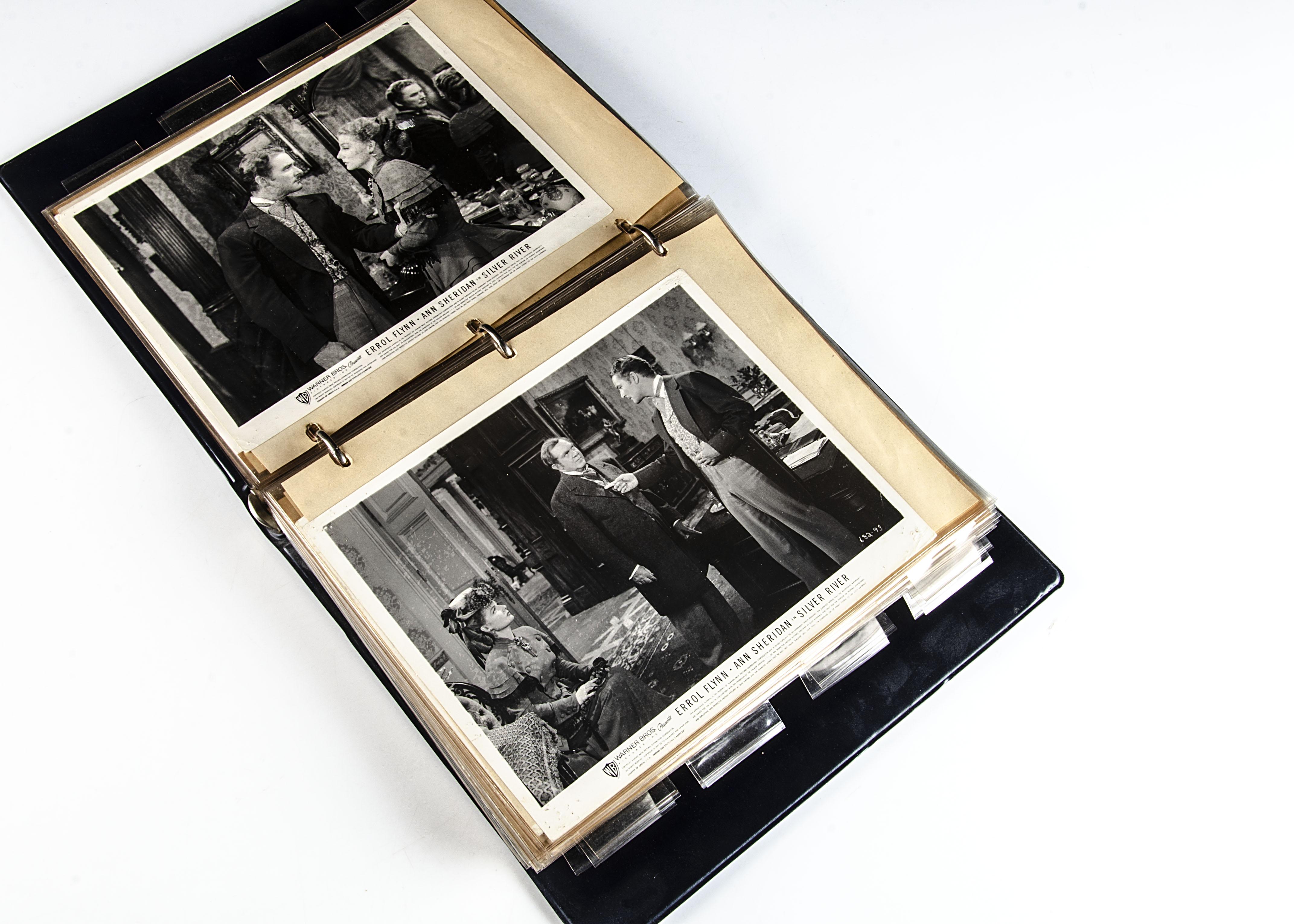 Errol Flynn Film Stills, approximately eighty b/w stills from Errol Flynn Western films that