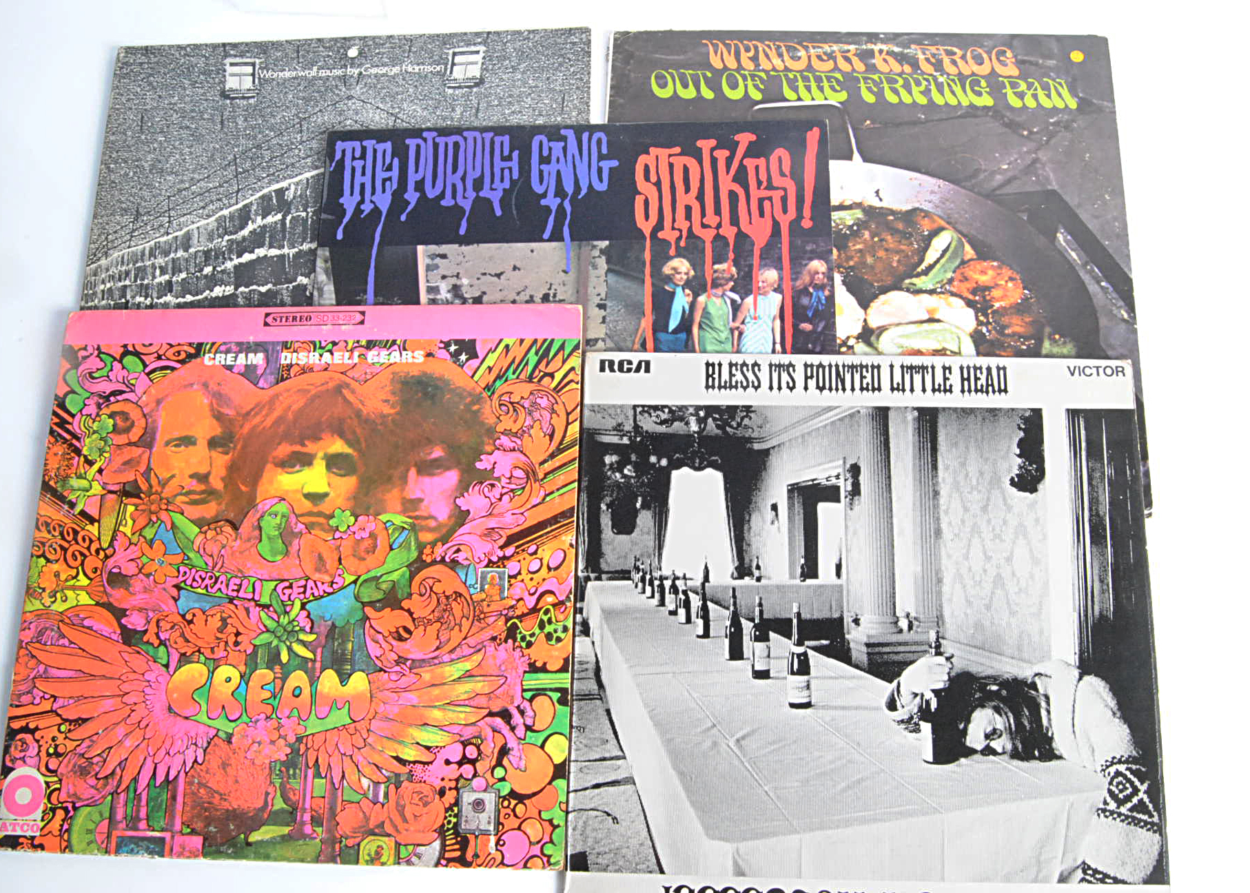 Psychedelic LPs, ten albums of mainly Psychedelic Rock with artists comprising The Purple Gang,