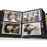 Western Film Star Postcards / autographs, one hundred plus postcards or postcard sized prints of