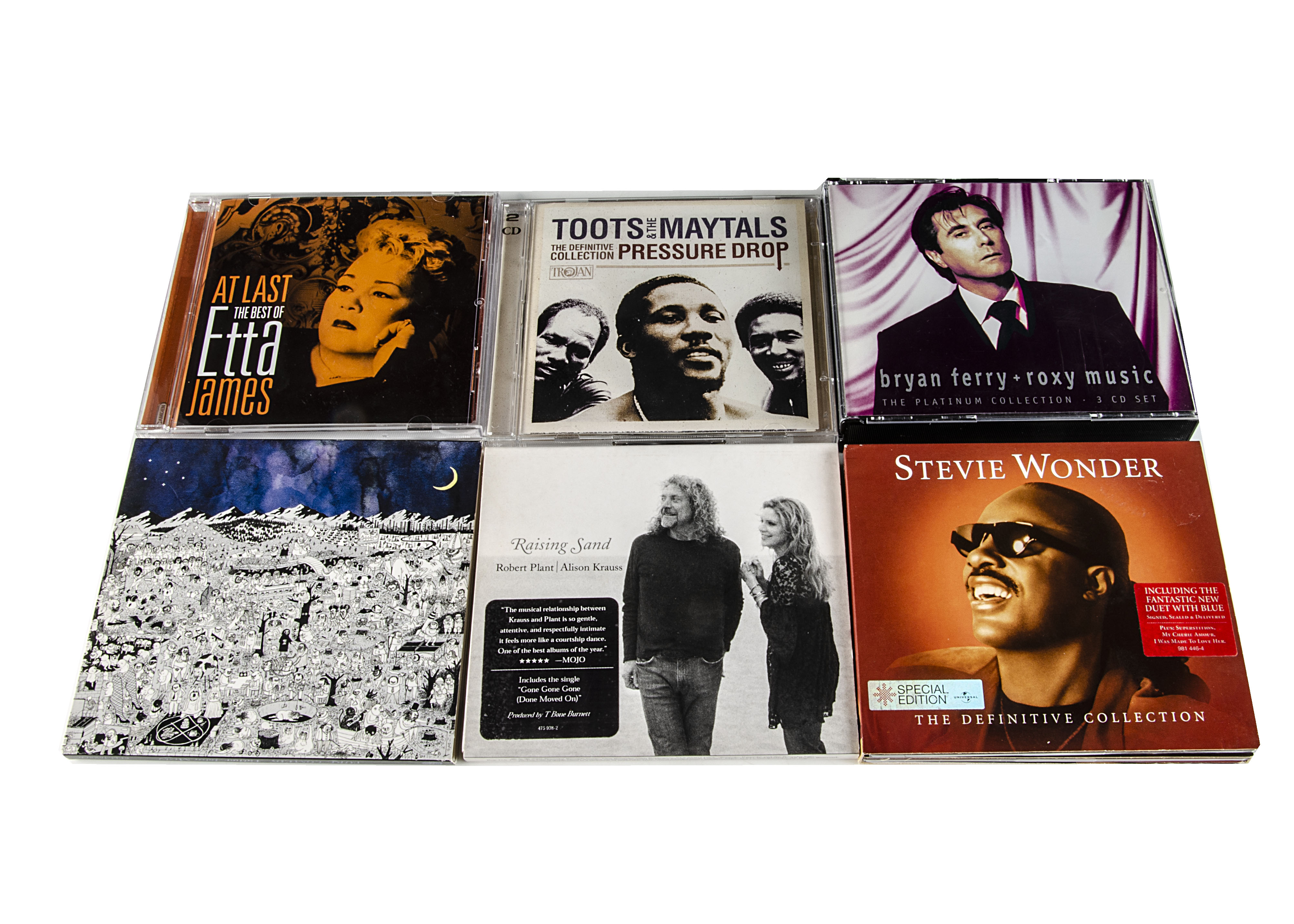 CDs, approximately three hundred CDs of various genres with artists including Stevie Wonder, Eva